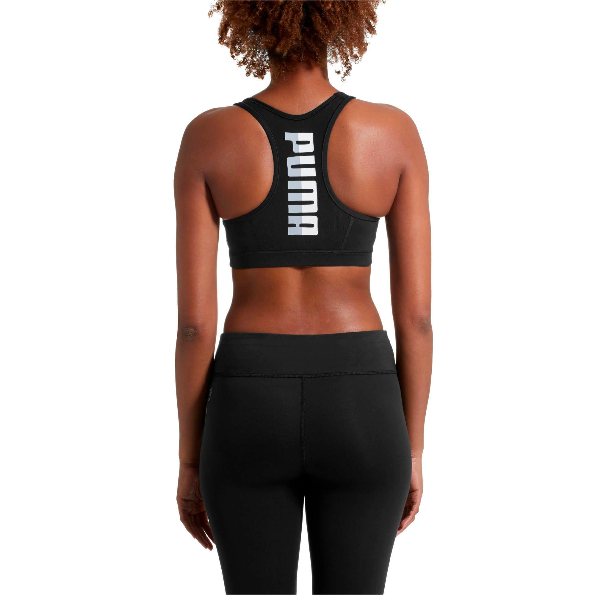 Thumbnail 2 of 4Keeps Women's Mid Impact Bra, Puma Black-white PUMA back, medium