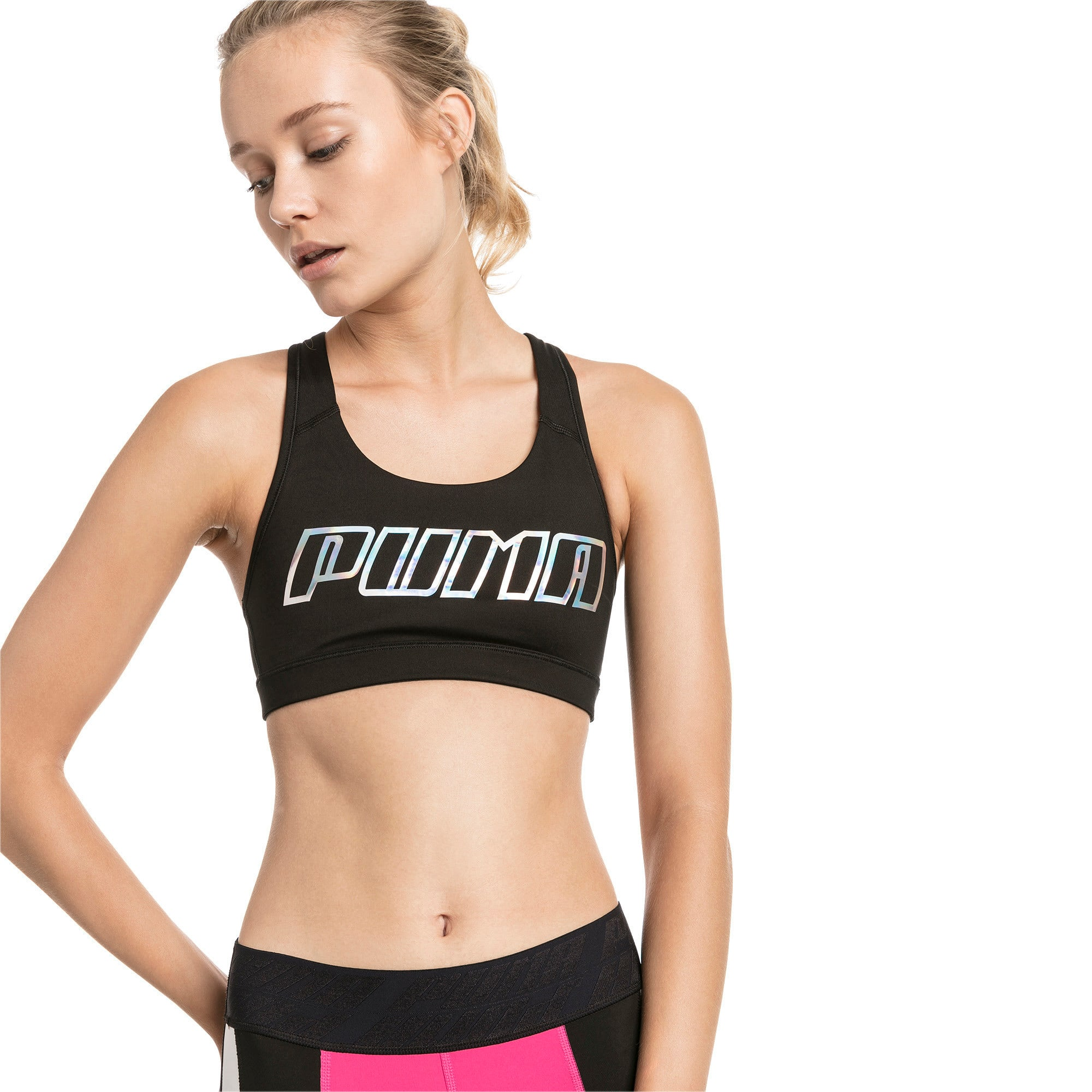 4Keeps Women's Mid Impact Bra | Bra tops, Bra, Black puma