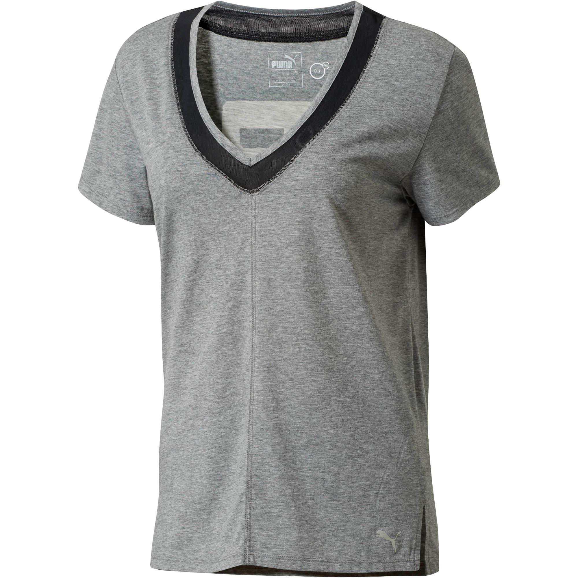 Thumbnail 1 of Slouchy-V Mesh T-Shirt, MGH-Puma Black, medium