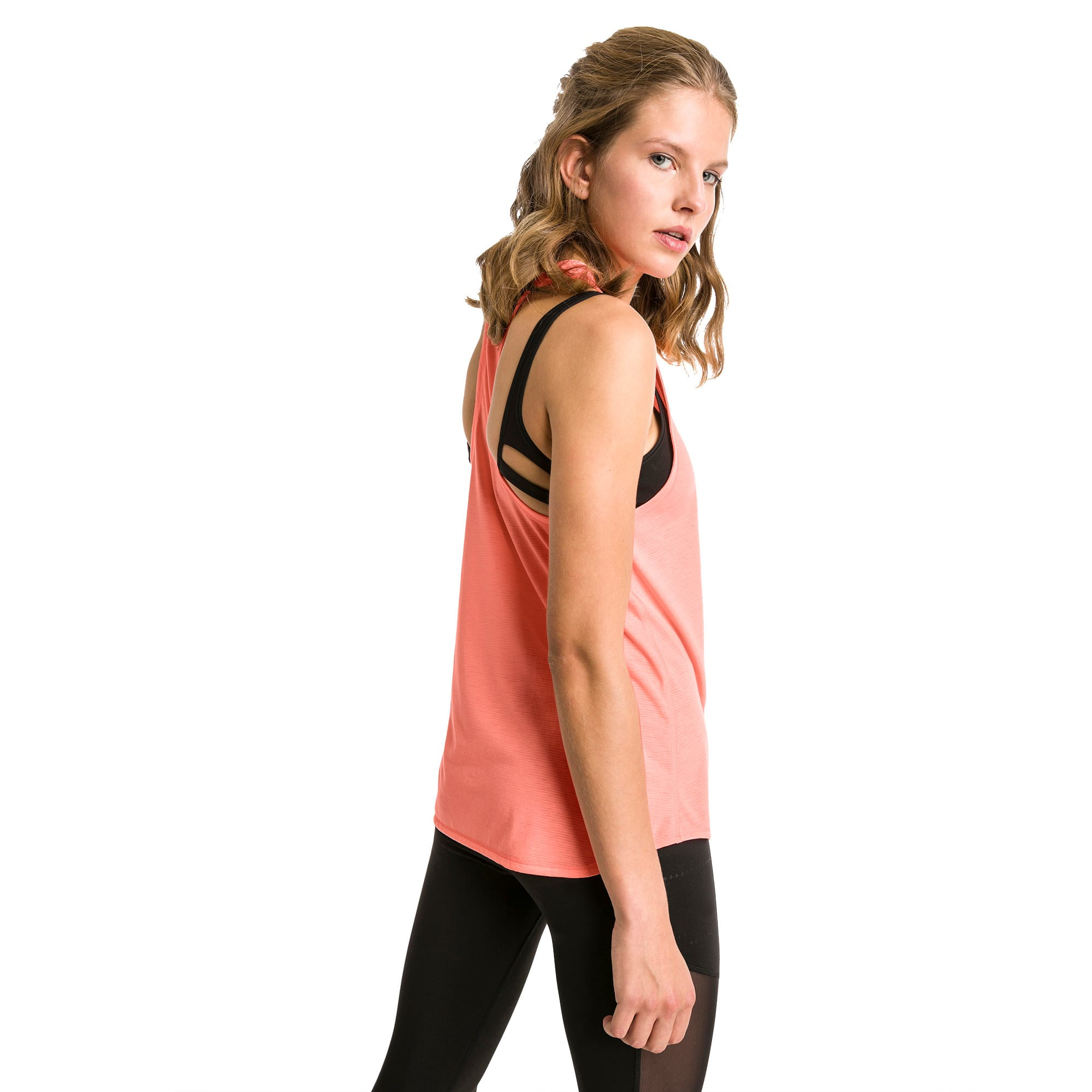 Thumbnail 2 of Running Women's IGNITE Mono Tank Top, Bright Peach, medium