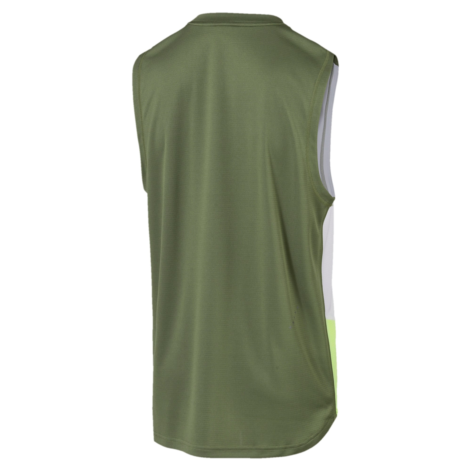 Thumbnail 5 of IGNITE Men's Running Singlet, Olivine-Puma White, medium