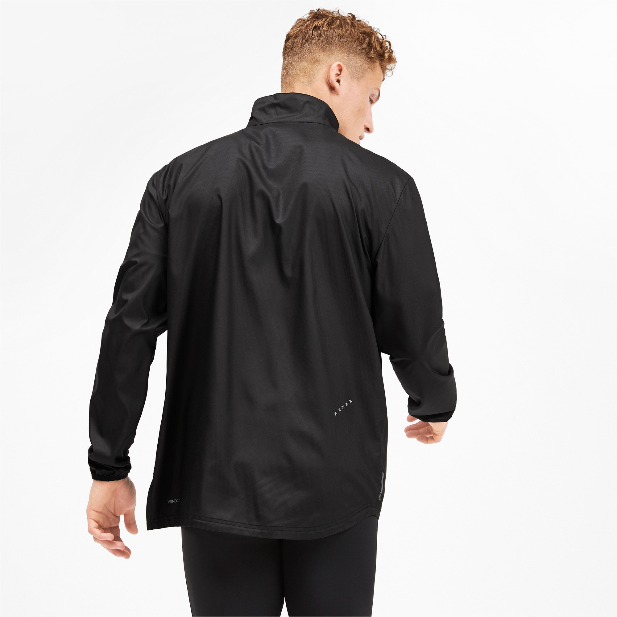 Thumbnail 2 of IGNITE Woven Men's Running Track Jacket, Puma Black-Puma Black, medium