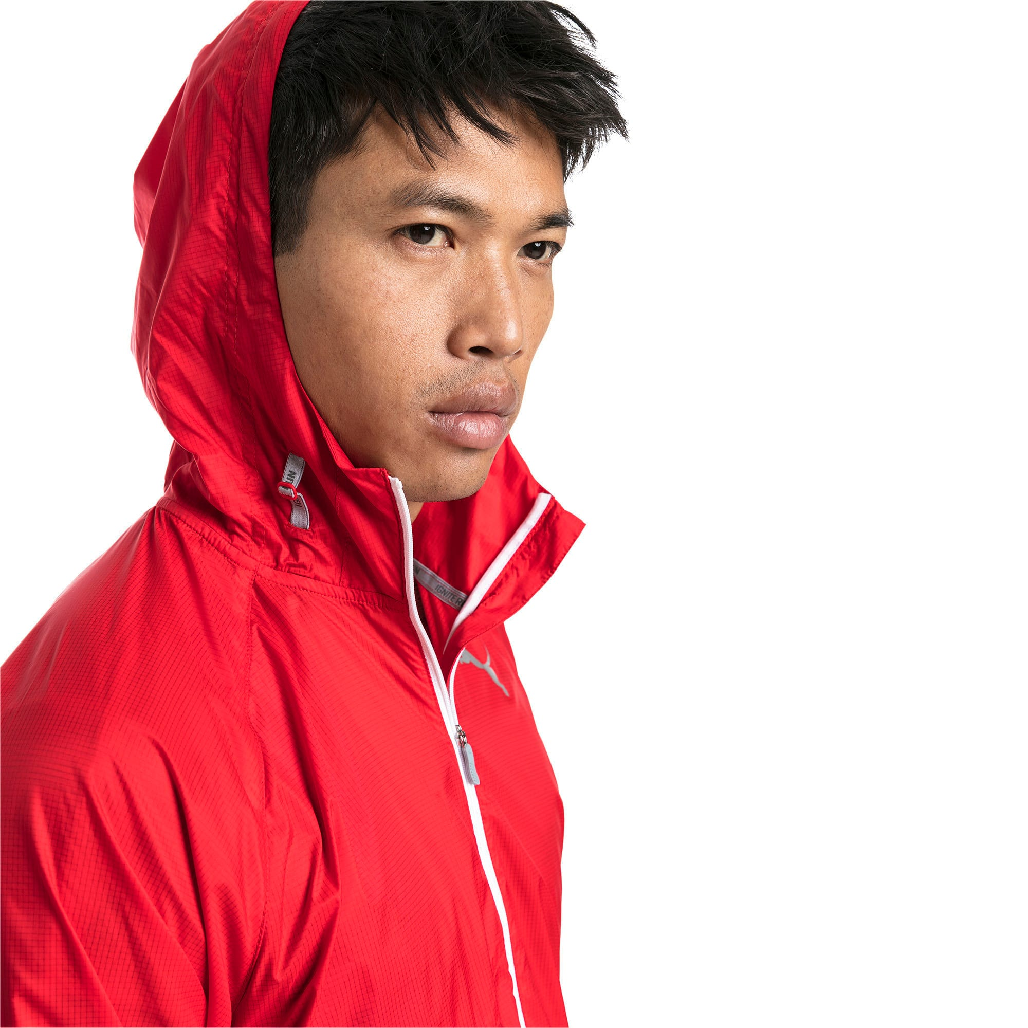 Thumbnail 4 of Lightweight Full Zip Hooded Men's Jacket, High Risk Red, medium