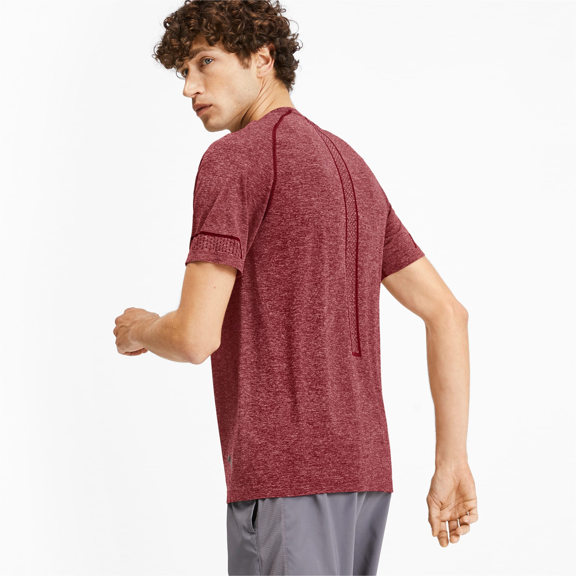 Thumbnail 2 of T-Shirt Energy Seamless Training pour homme, Rhubarb Heather, medium