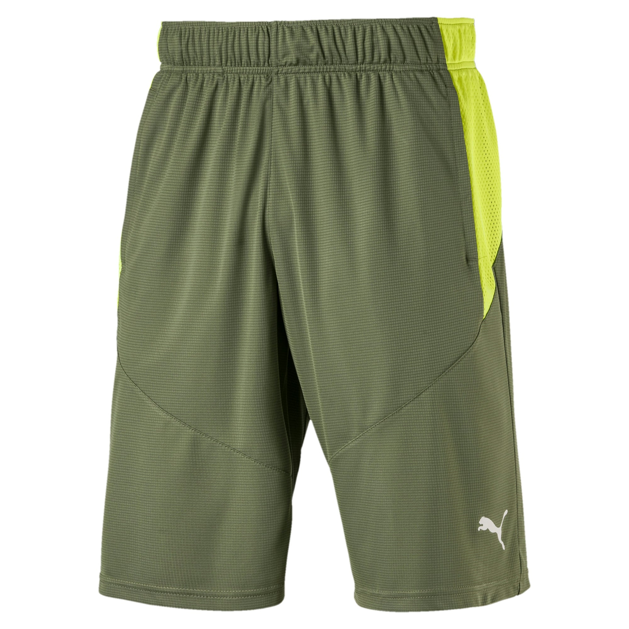 Thumbnail 1 of Short tricoté Energy Running pour homme, Olivine-Fizzy Yellow, medium