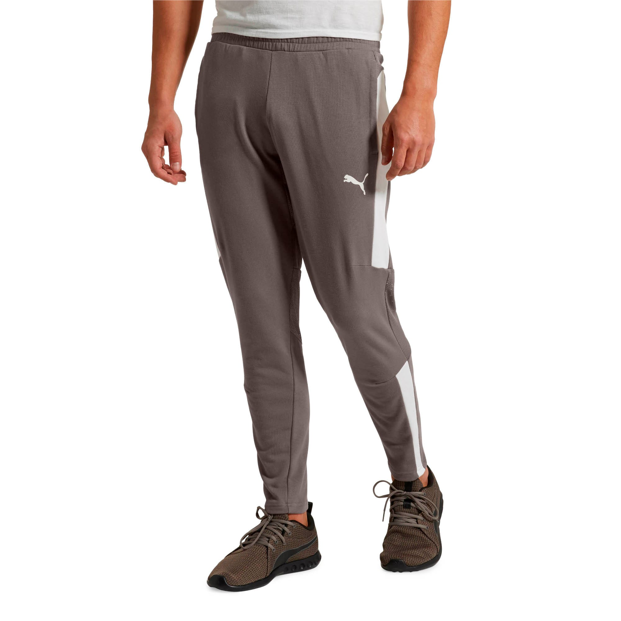 Thumbnail 2 of Energy Sweat Blaster Men's Pants, Charcoal Gray-Puma White, medium