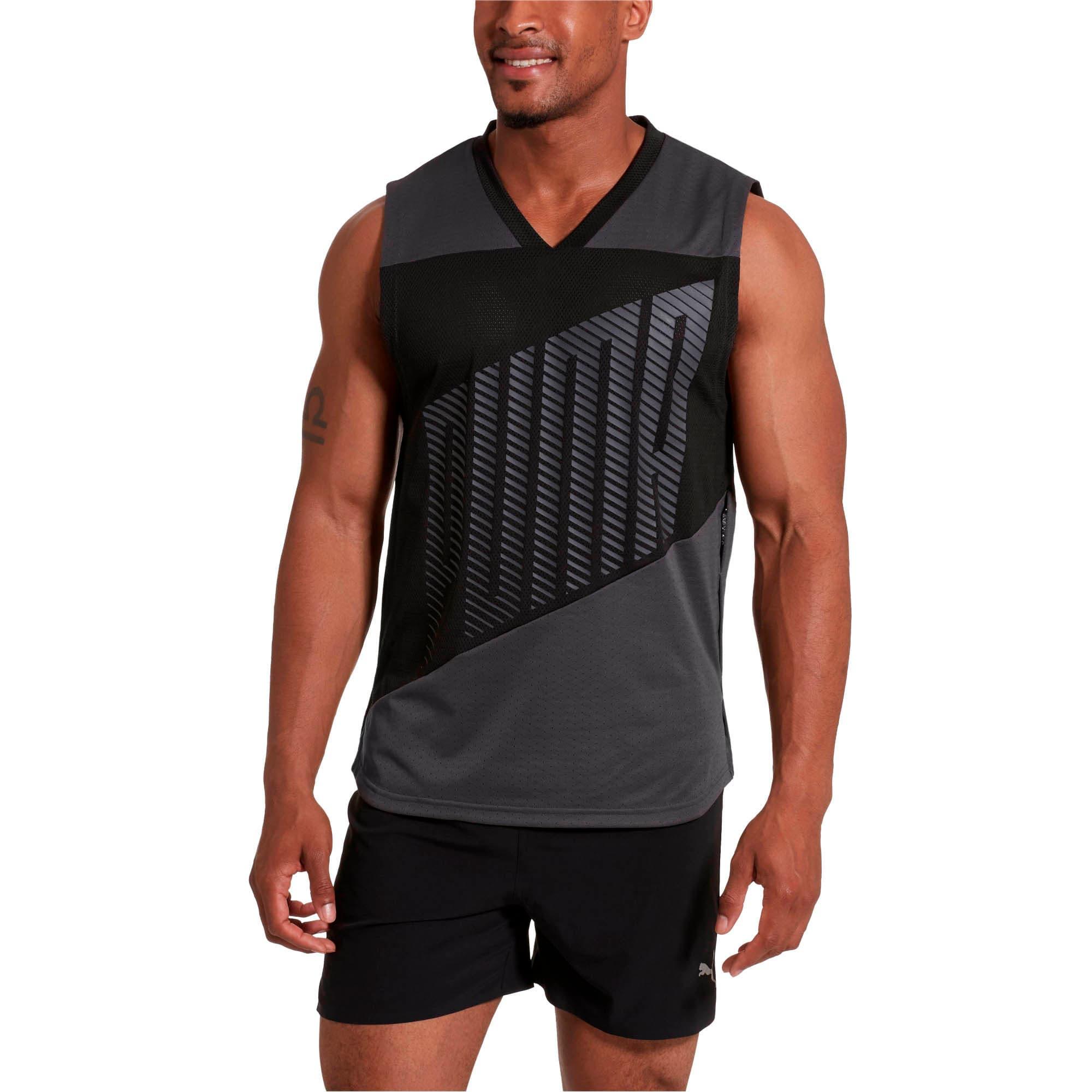 Miniatura 1 de Camiseta sin mangas A.C.E. para hombre, Asphalt-Puma Black, mediano