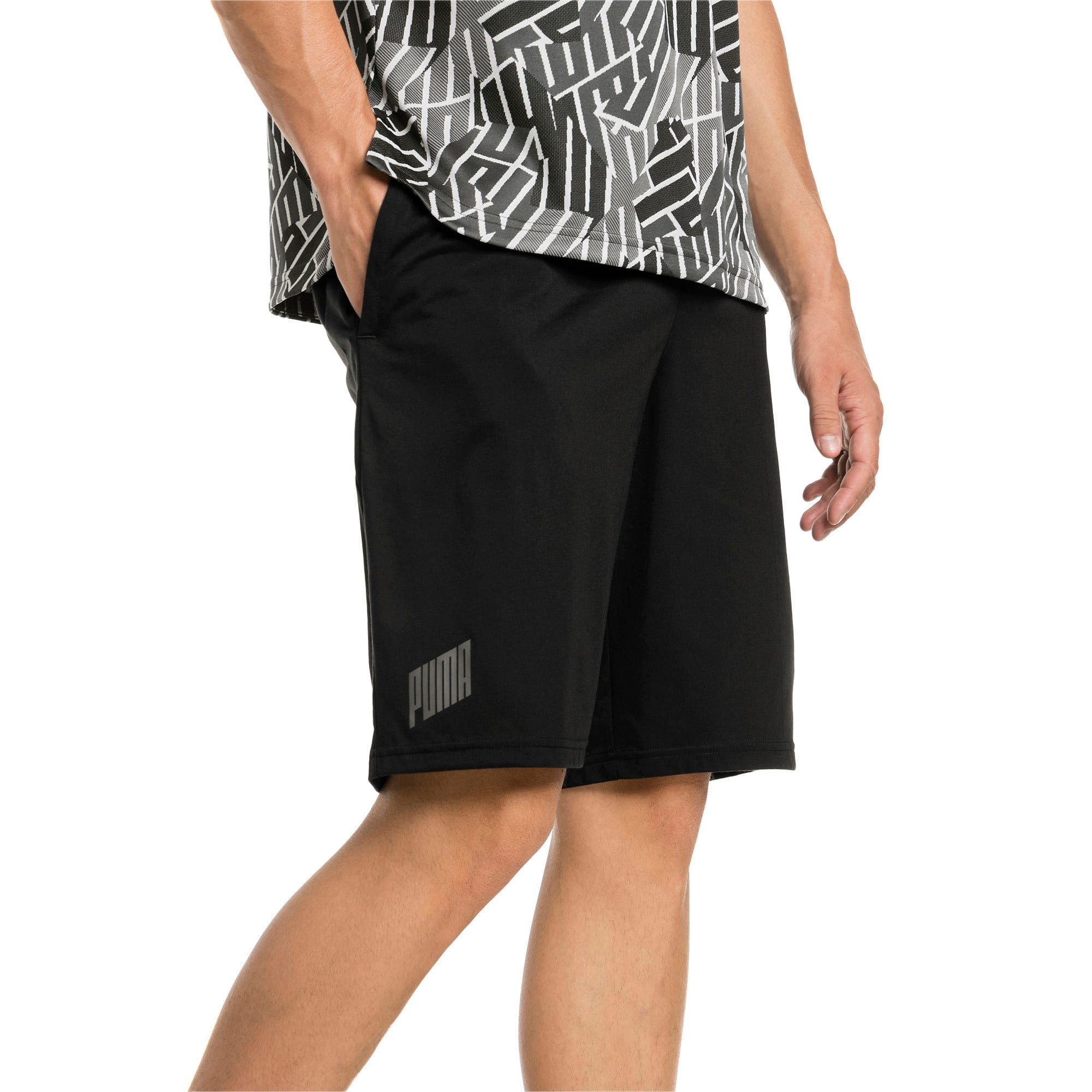 Thumbnail 1 of A.C.E. Knitted Men's Shorts, Puma Black, medium