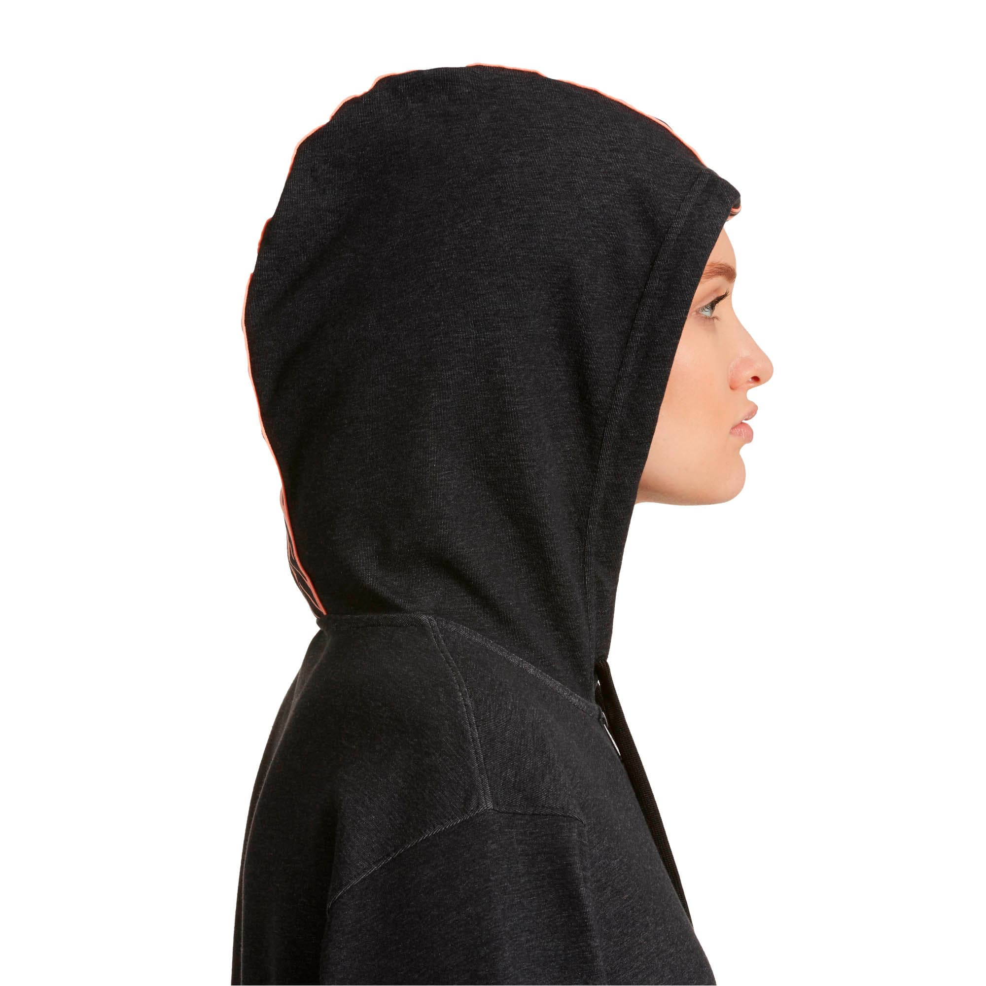 Thumbnail 4 of Feel It Cover Up Women's Half Zip Hoodie, Puma Black Heather, medium