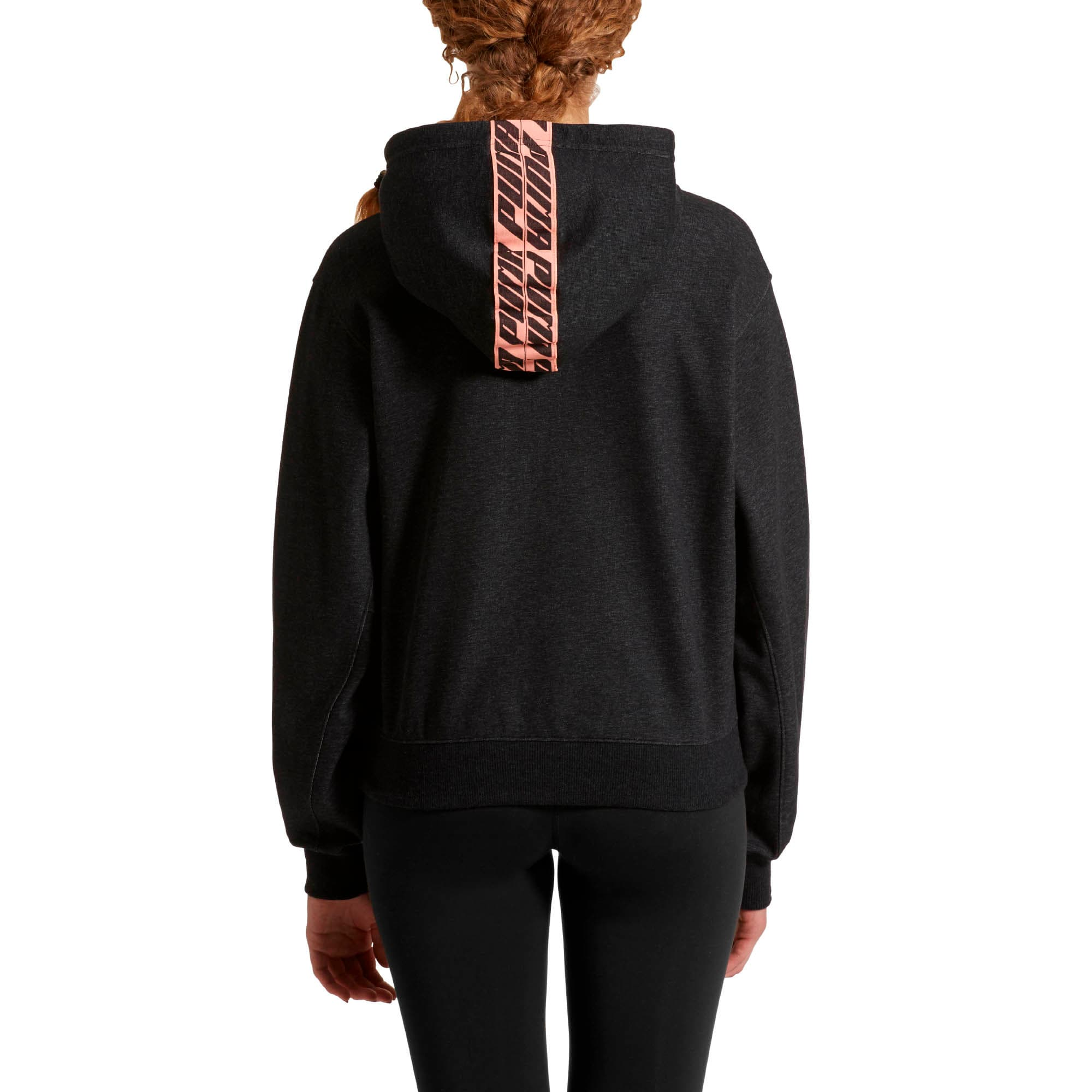 Thumbnail 2 of Feel It Cover Up Women's Half Zip Hoodie, Puma Black Heather, medium