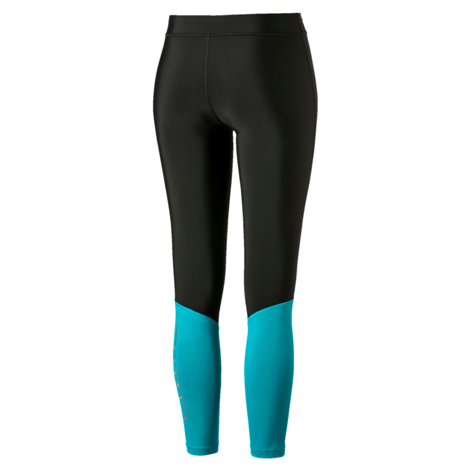 Thumbnail 3 of Aire Women's 7/8 Leggings, Puma Black-Caribbean Sea, medium