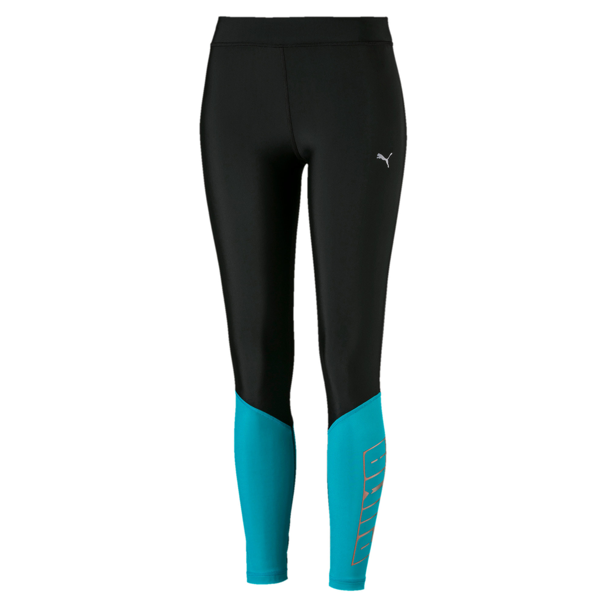 Thumbnail 2 of Aire Women's 7/8 Leggings, Puma Black-Caribbean Sea, medium