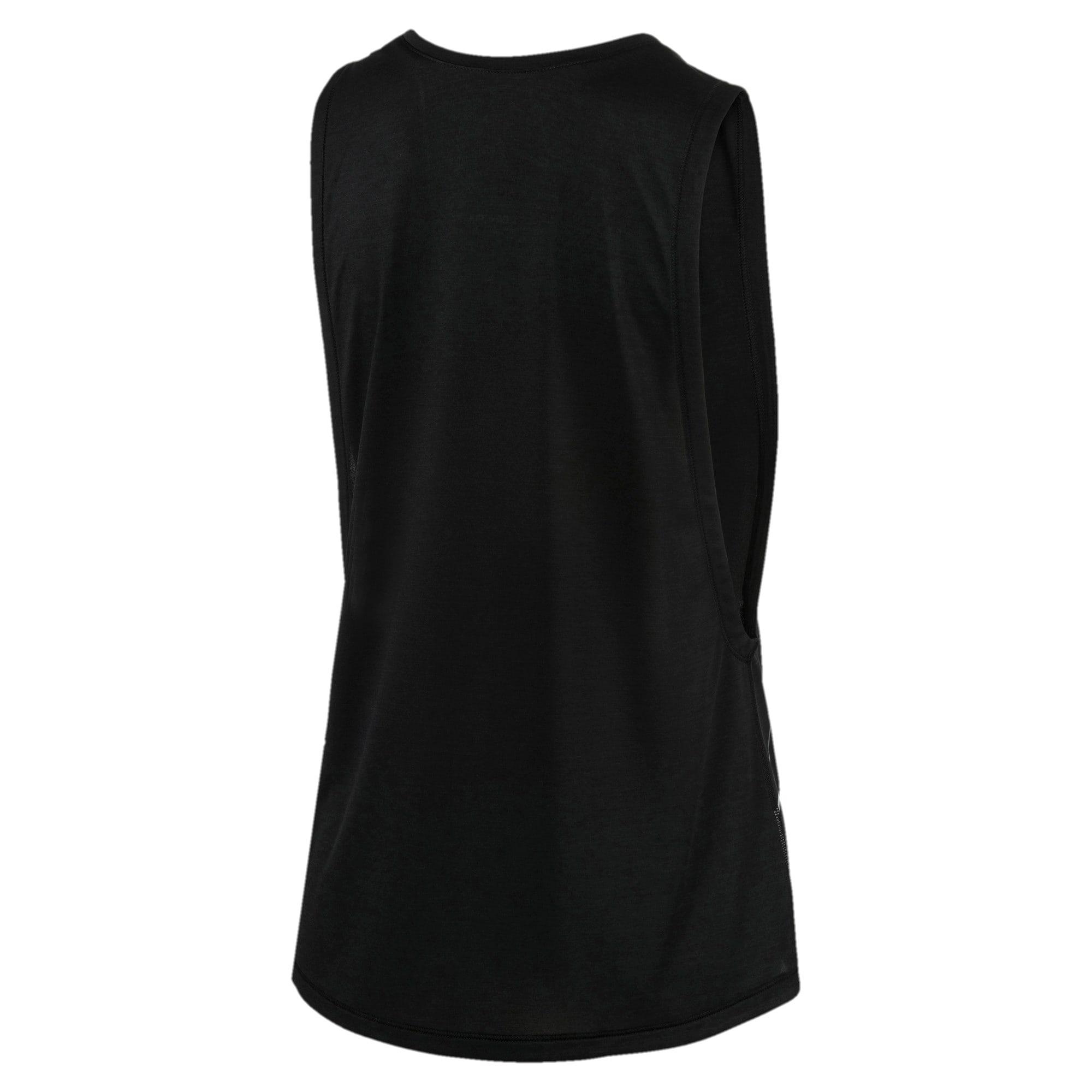 Miniatura 5 de Camiseta sin mangas Aire de mujer, Puma Black Heather, mediano