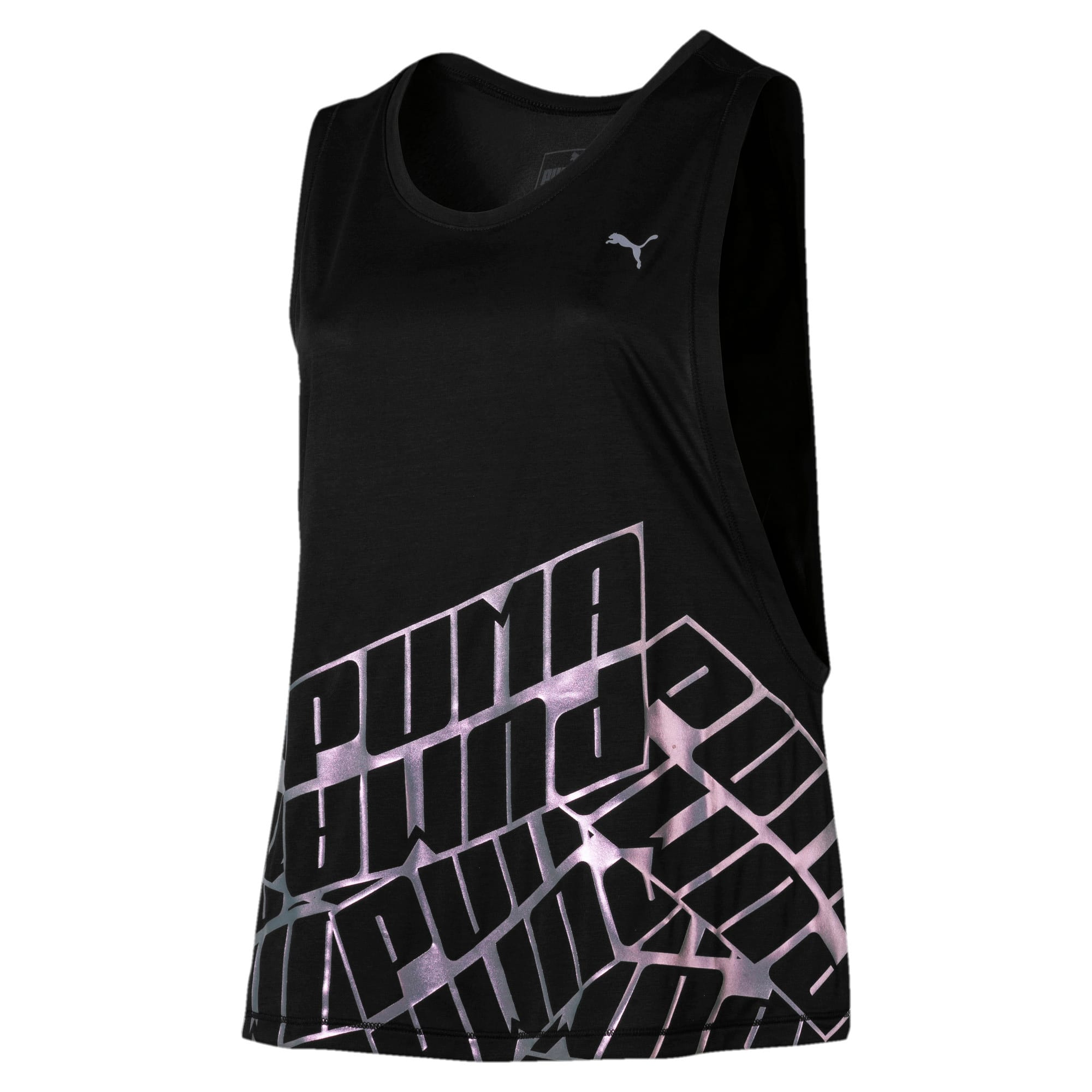 Miniatura 4 de Camiseta sin mangas Aire de mujer, Puma Black Heather, mediano