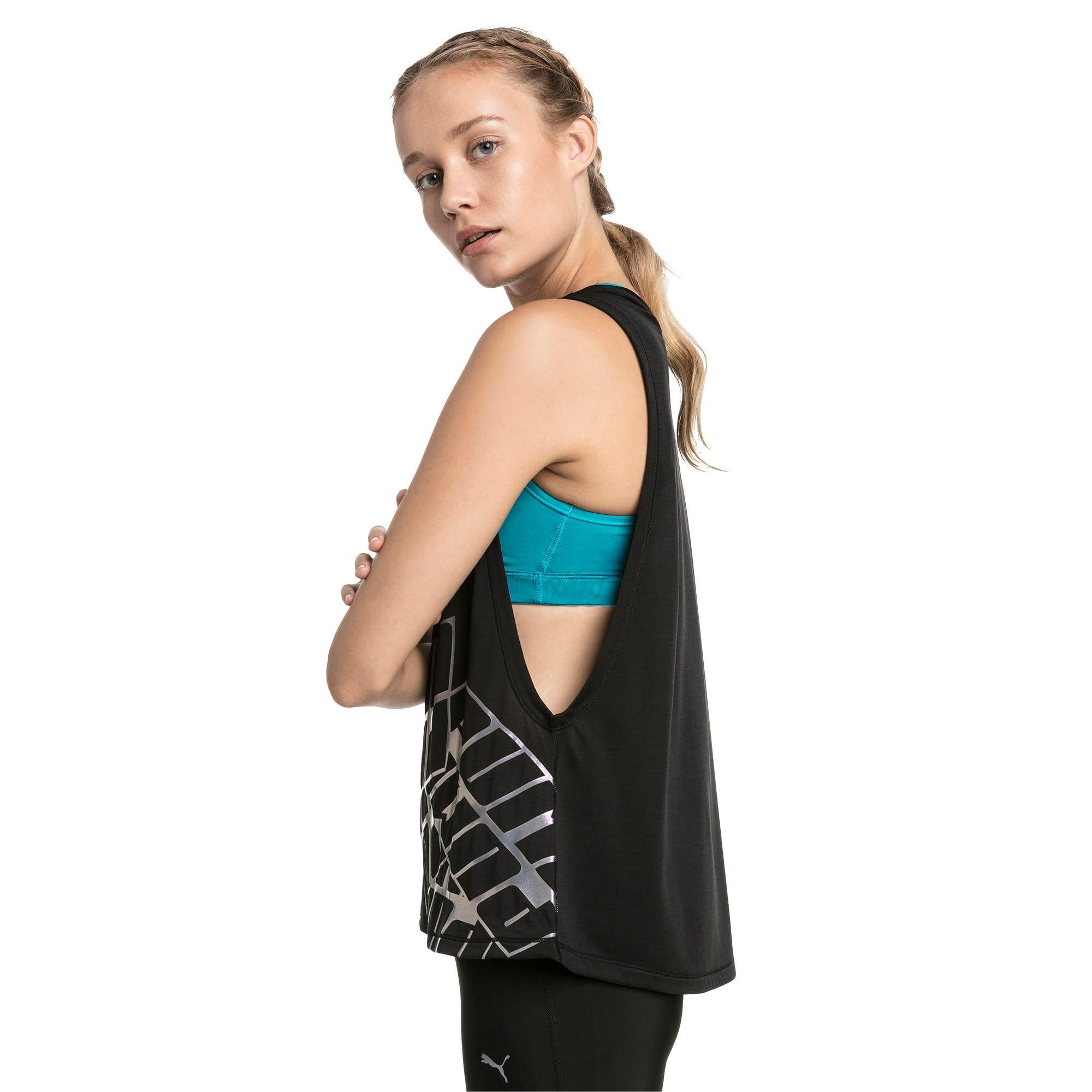 Miniatura 2 de Camiseta sin mangas Aire de mujer, Puma Black Heather, mediano