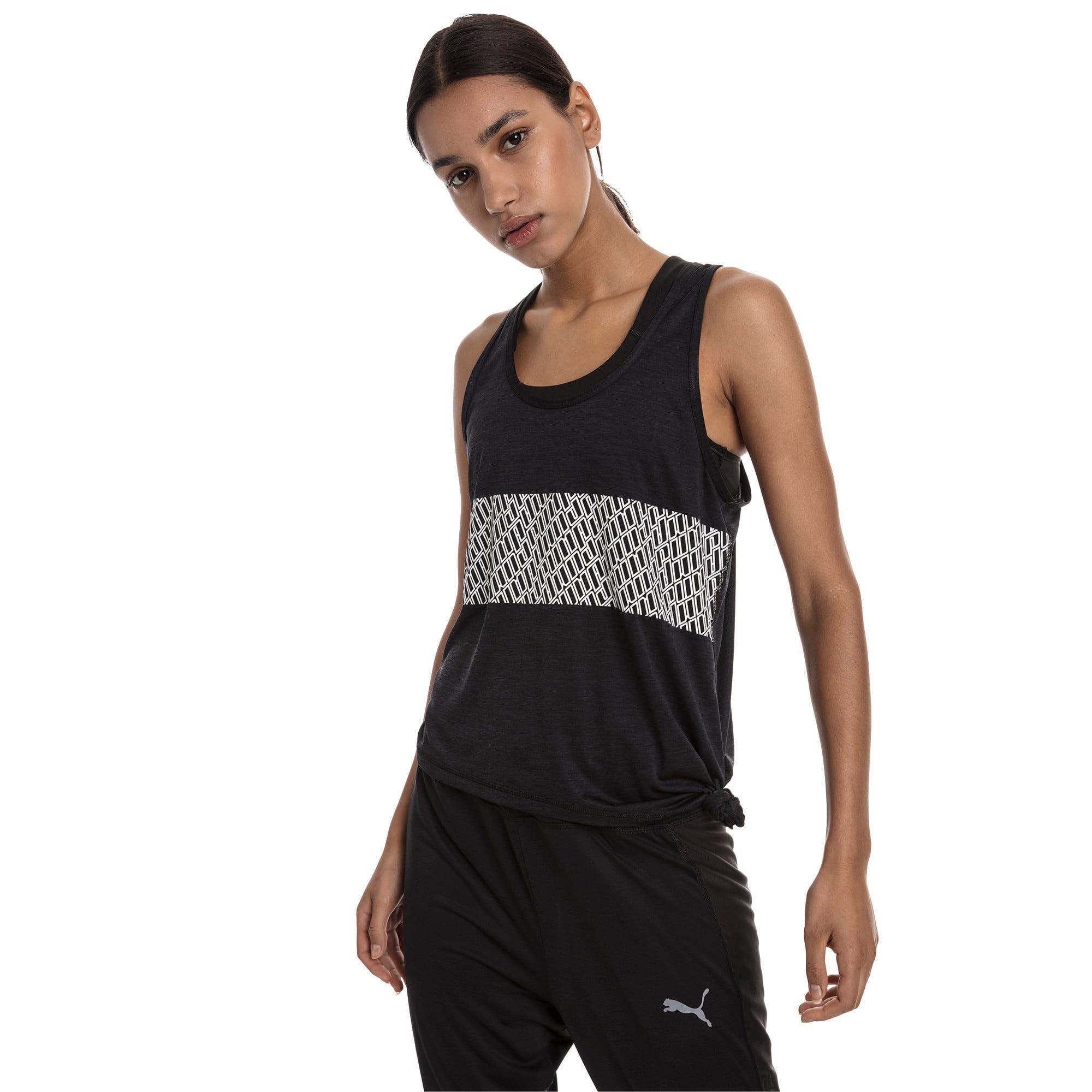Miniatura 1 de Camiseta sin mangas con logo atractivo, Puma Black Heather, mediano