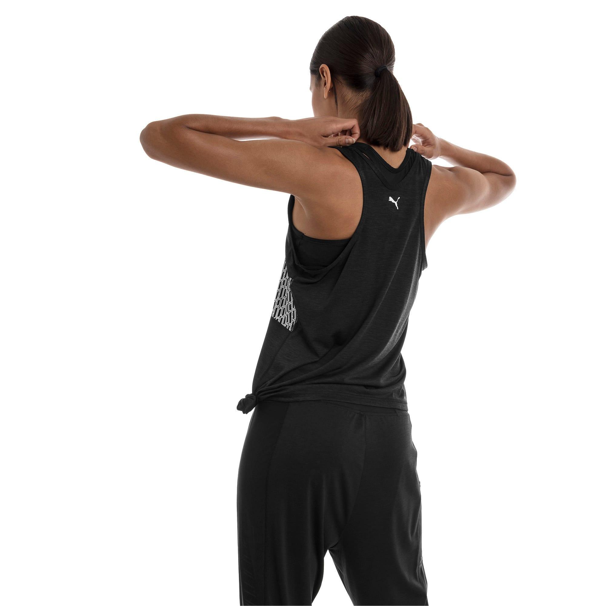 Miniatura 2 de Camiseta sin mangas con logo atractivo, Puma Black Heather, mediano