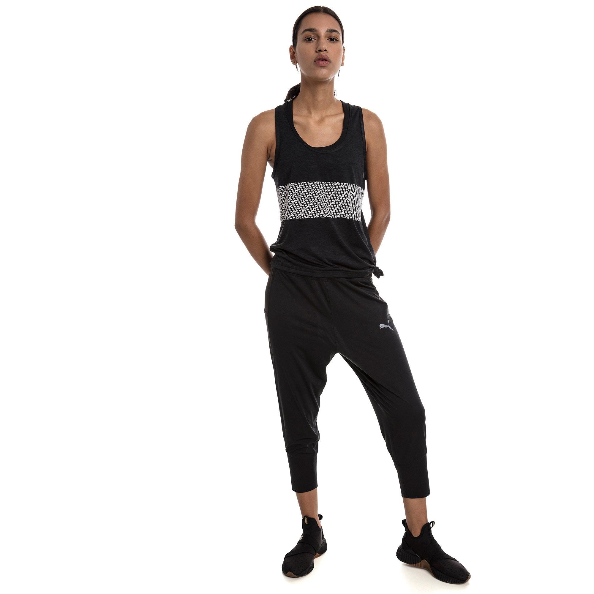 Miniatura 3 de Camiseta sin mangas con logo atractivo, Puma Black Heather, mediano