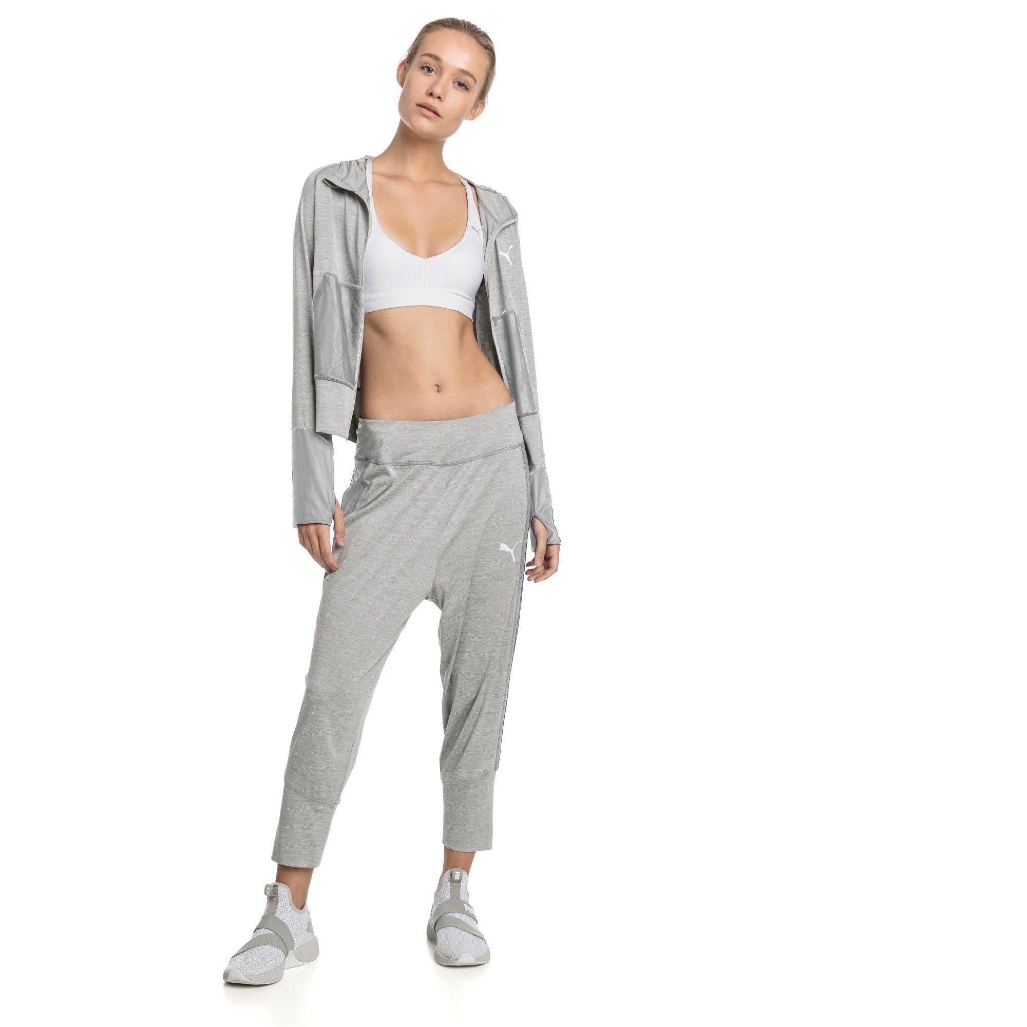 Thumbnail 3 of Knockout Woven Women's 3/4 Pants, Light Gray Heather, medium