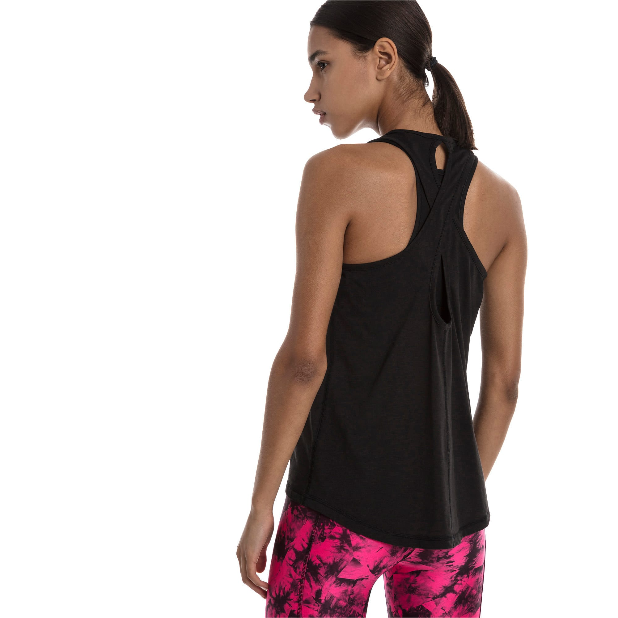 Thumbnail 2 of Twist It Women's Logo Tank, Puma Black, medium