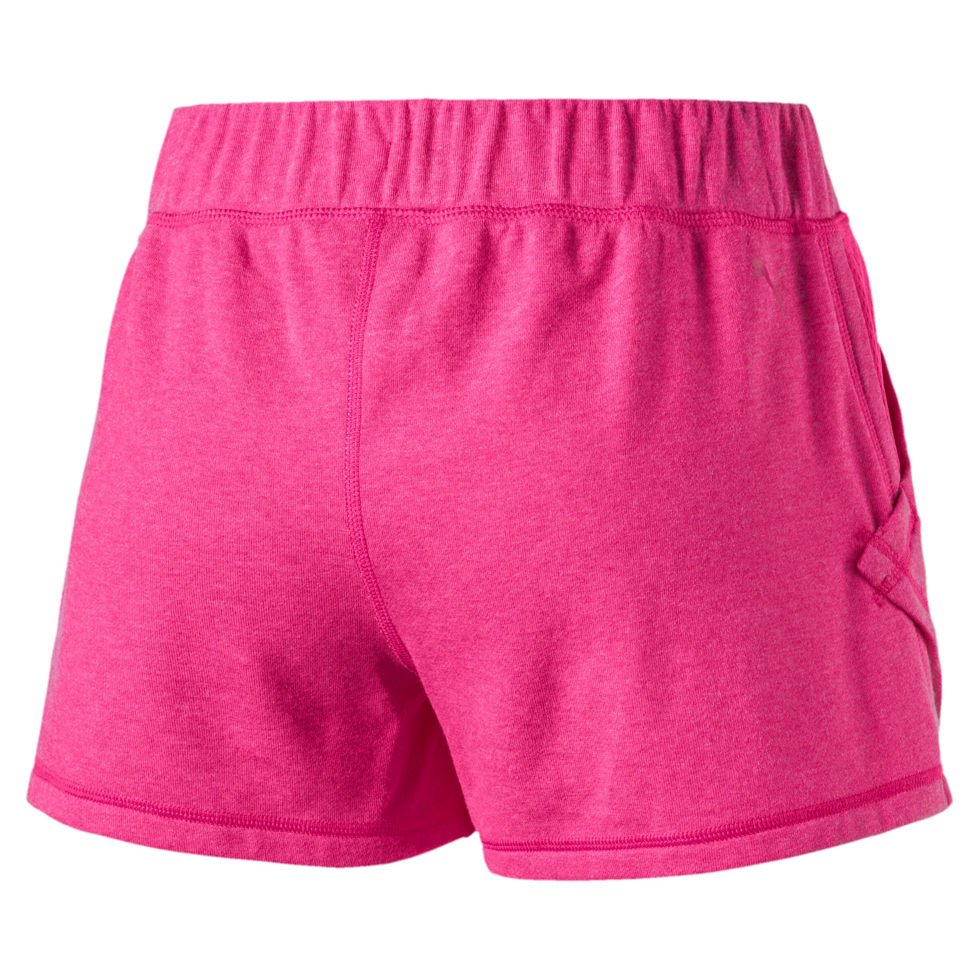 "Thumbnail 5 of Yogini Women's 3"" Shorts, Fuchsia Purple Heather, medium"