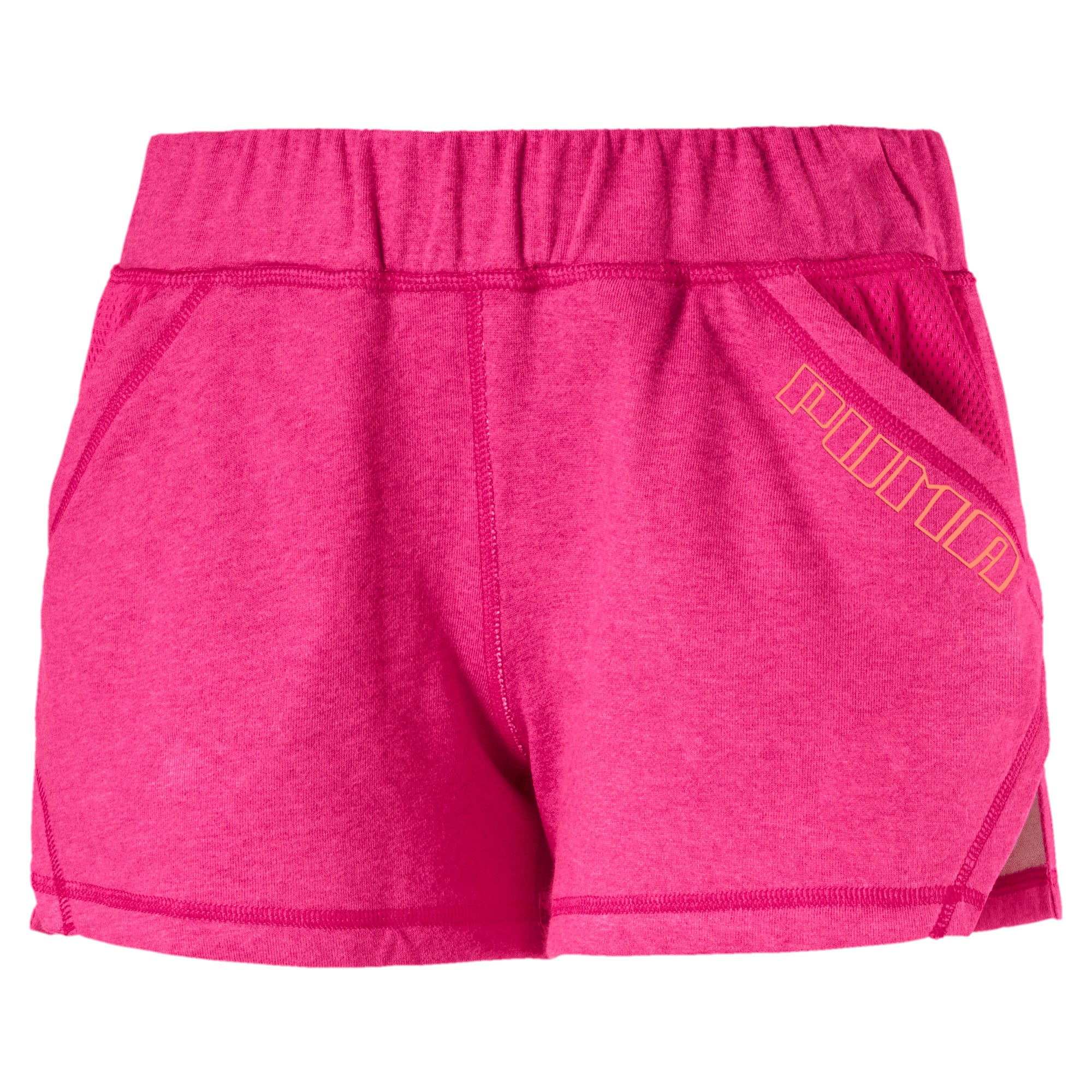 "Thumbnail 4 of Yogini Women's 3"" Shorts, Fuchsia Purple Heather, medium"