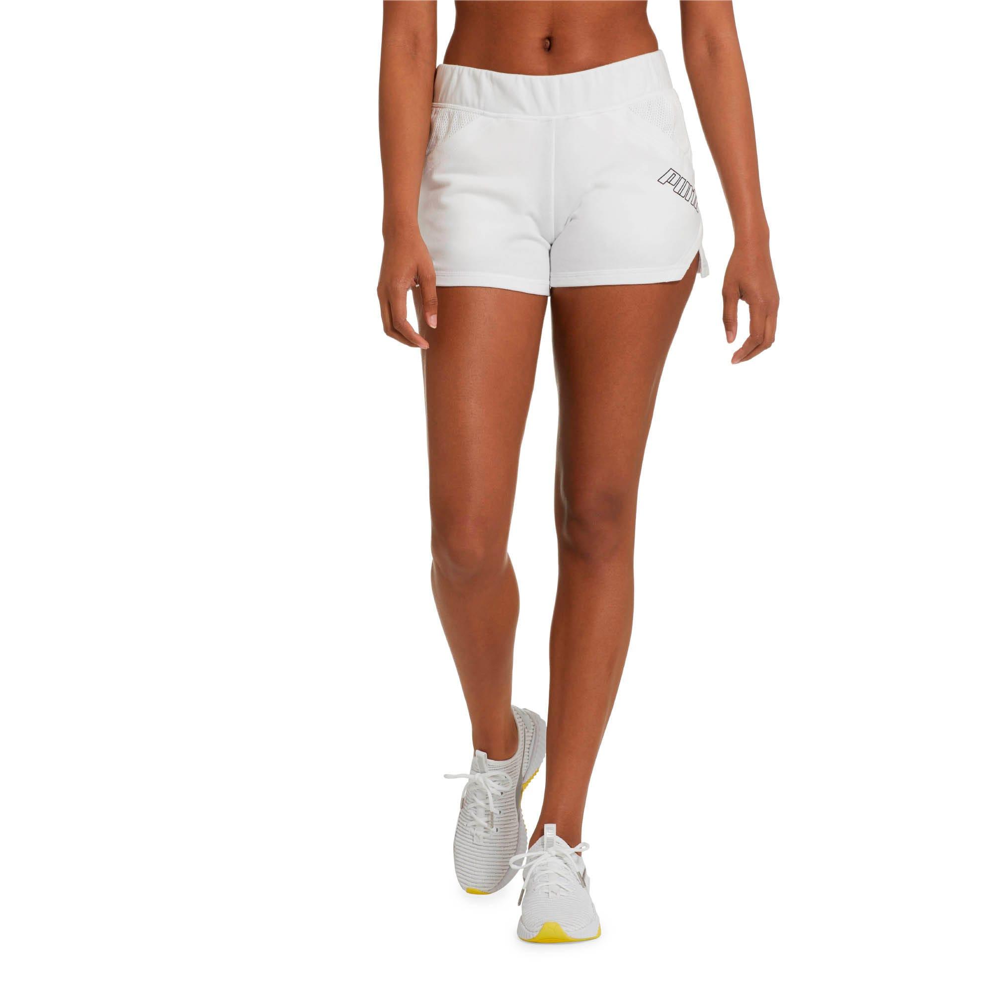 "Thumbnail 2 of Yogini Women's 3"" Shorts, Puma White, medium"