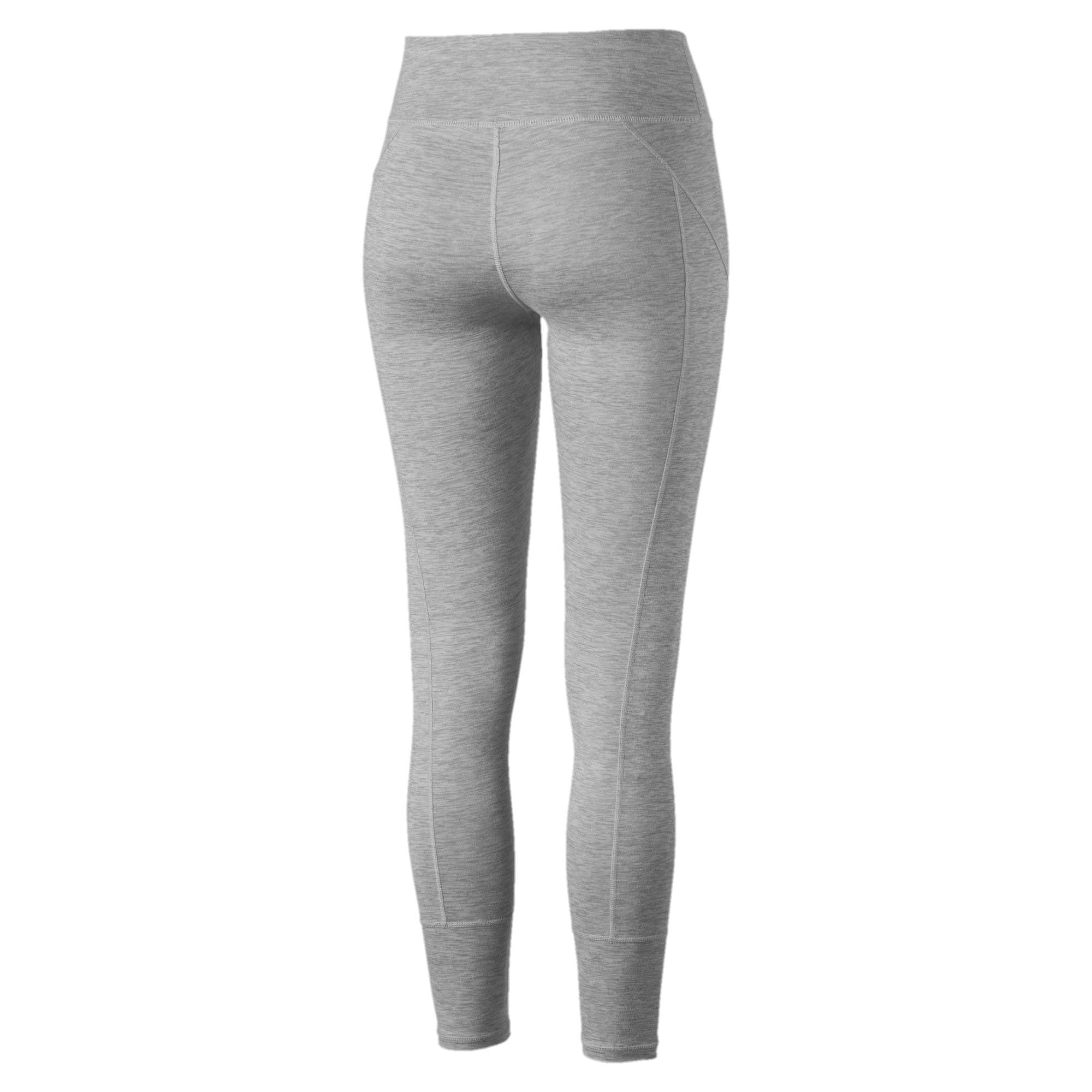 Thumbnail 3 of Yogini Logo Women's 7/8 Leggings, Light Gray Heather, medium