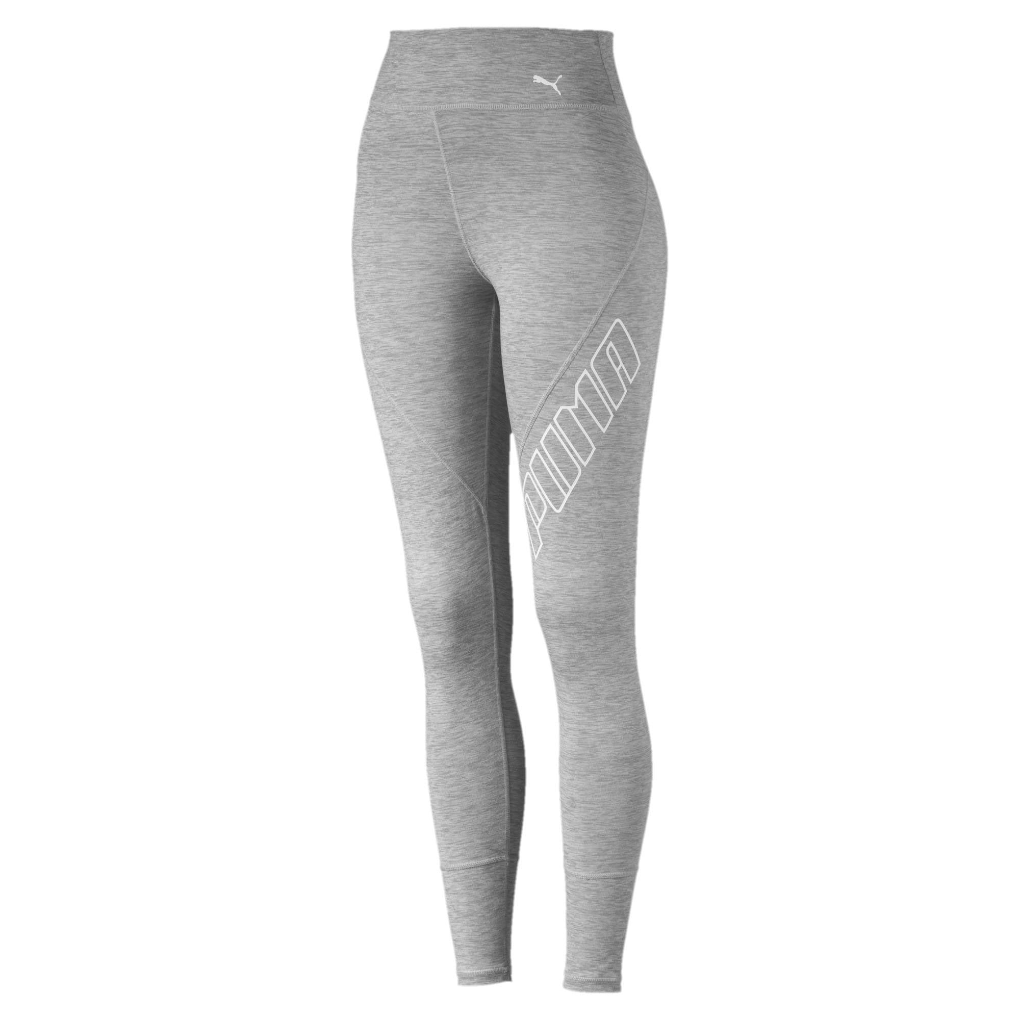 Thumbnail 1 of Yogini Logo Women's 7/8 Leggings, Light Gray Heather, medium