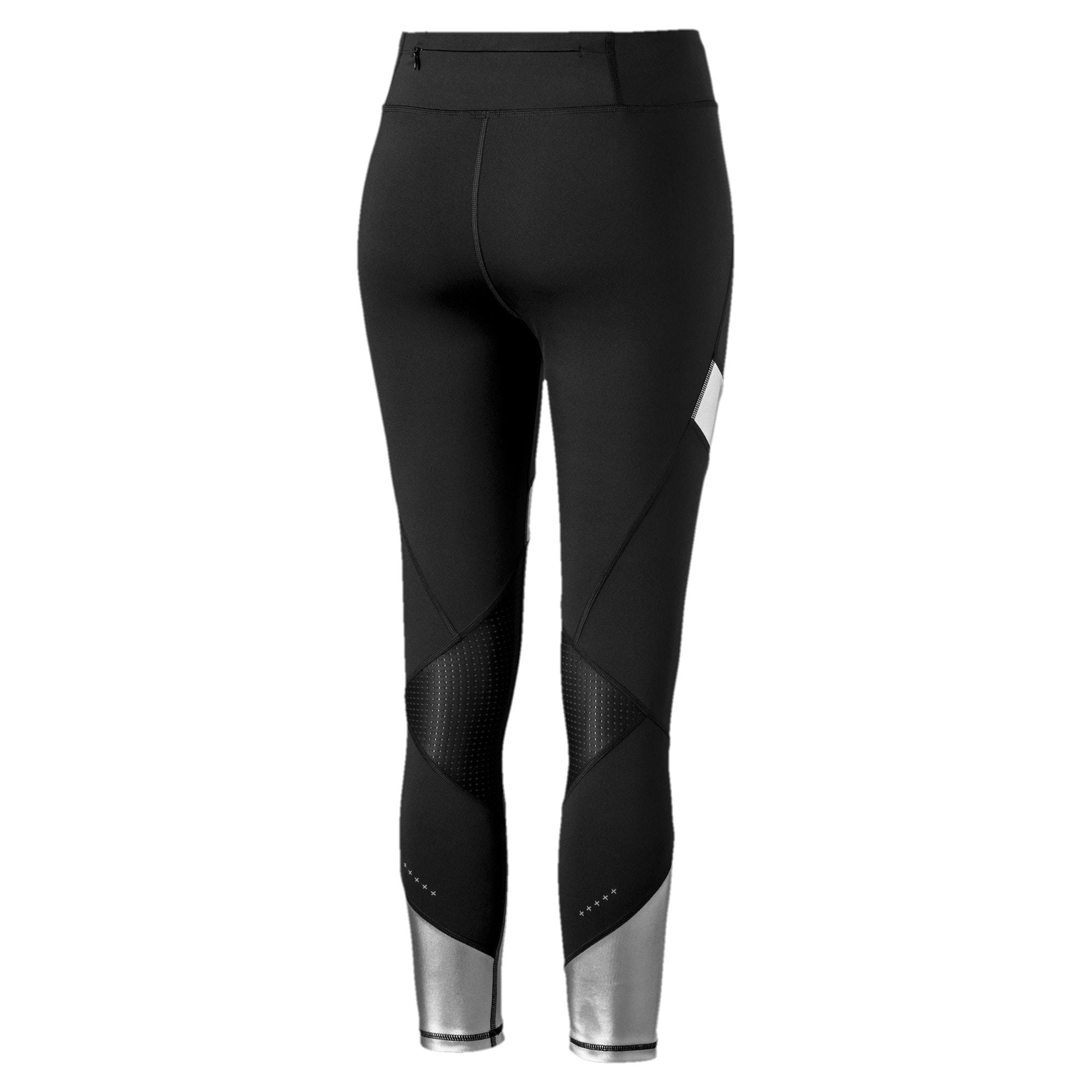 Thumbnail 6 of Elite Speed Women's Leggings, Puma Black-Silver, medium
