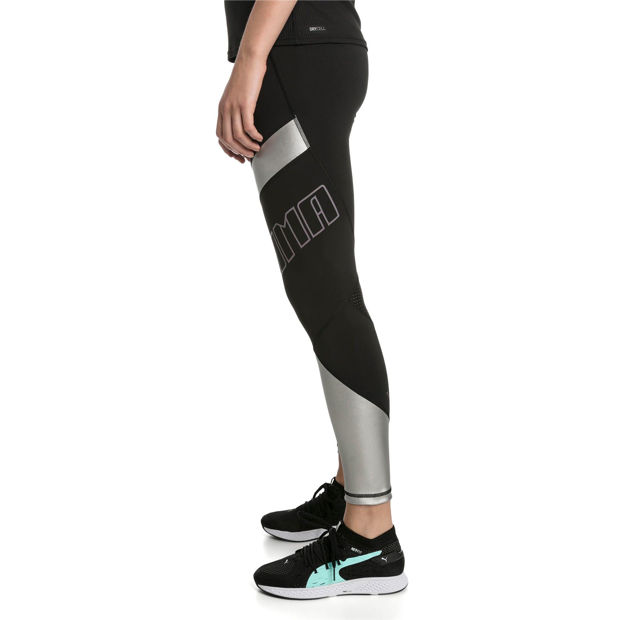 Thumbnail 1 of Elite Speed Women's Leggings, Puma Black-Silver, medium