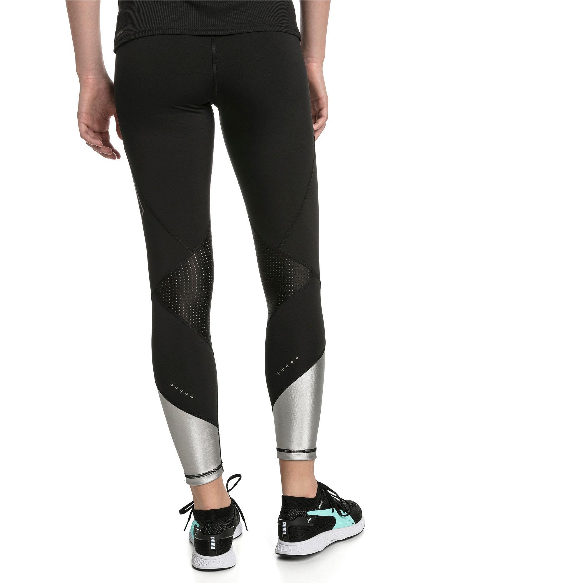Thumbnail 2 of Elite Speed Women's Leggings, Puma Black-Silver, medium