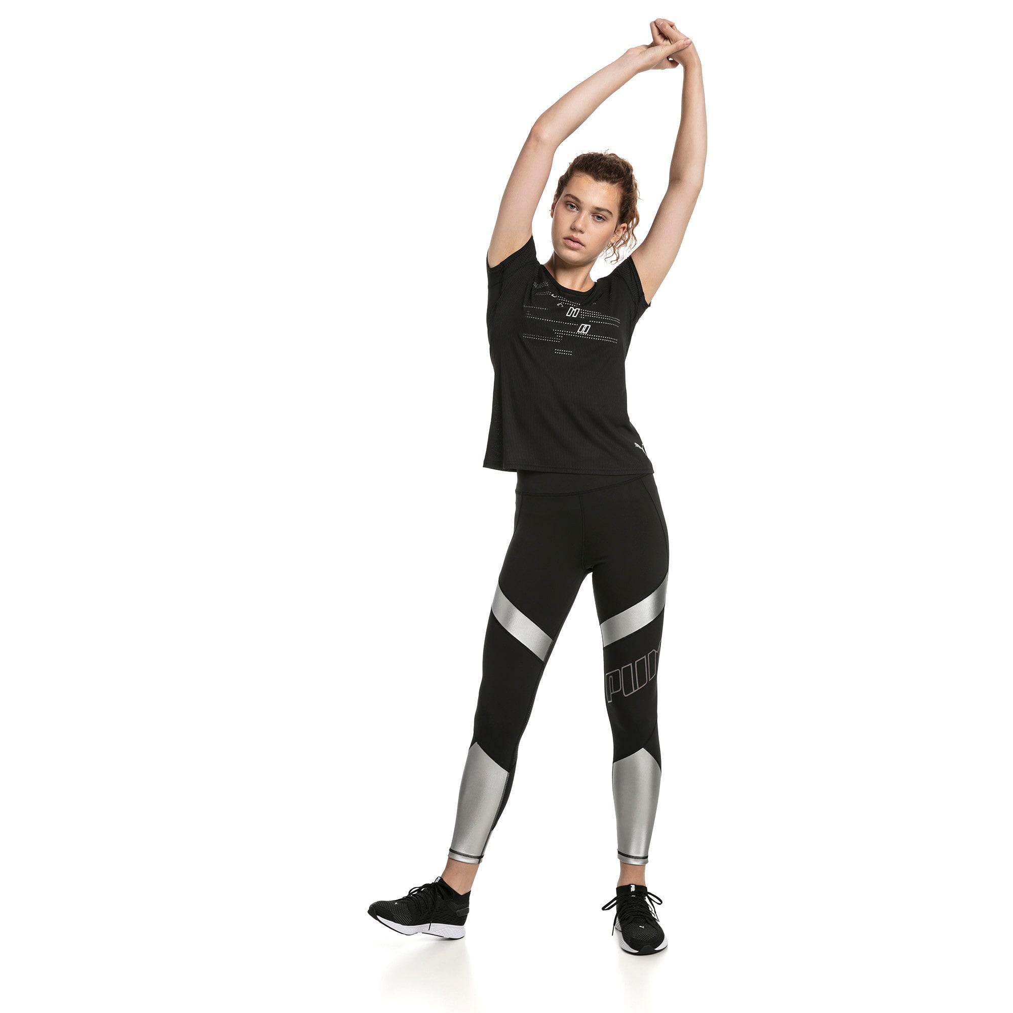 Thumbnail 3 of Elite Speed Women's Leggings, Puma Black-Silver, medium