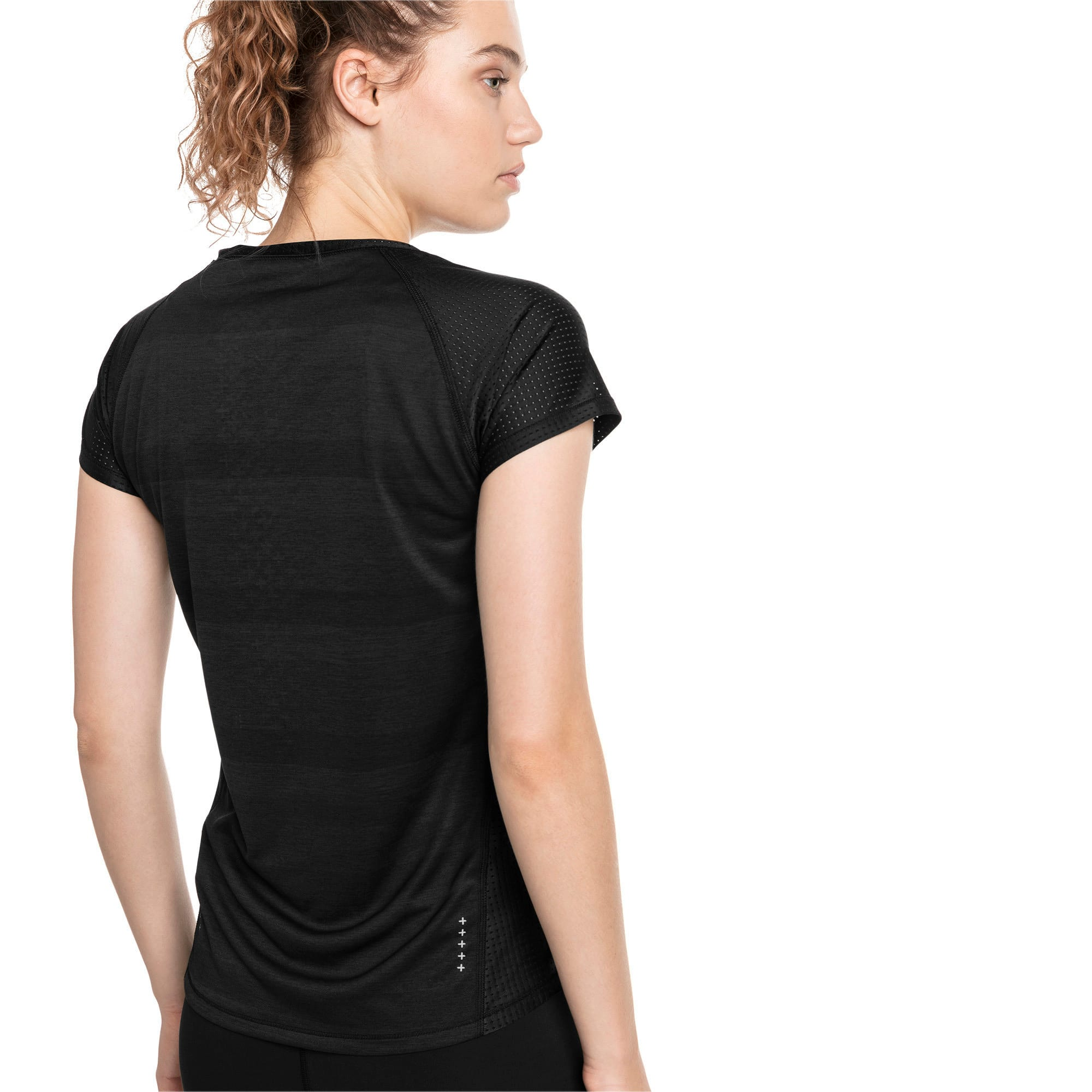 Thumbnail 2 of Thermo- R+ Women's Performance Tee, Puma Black Heather, medium