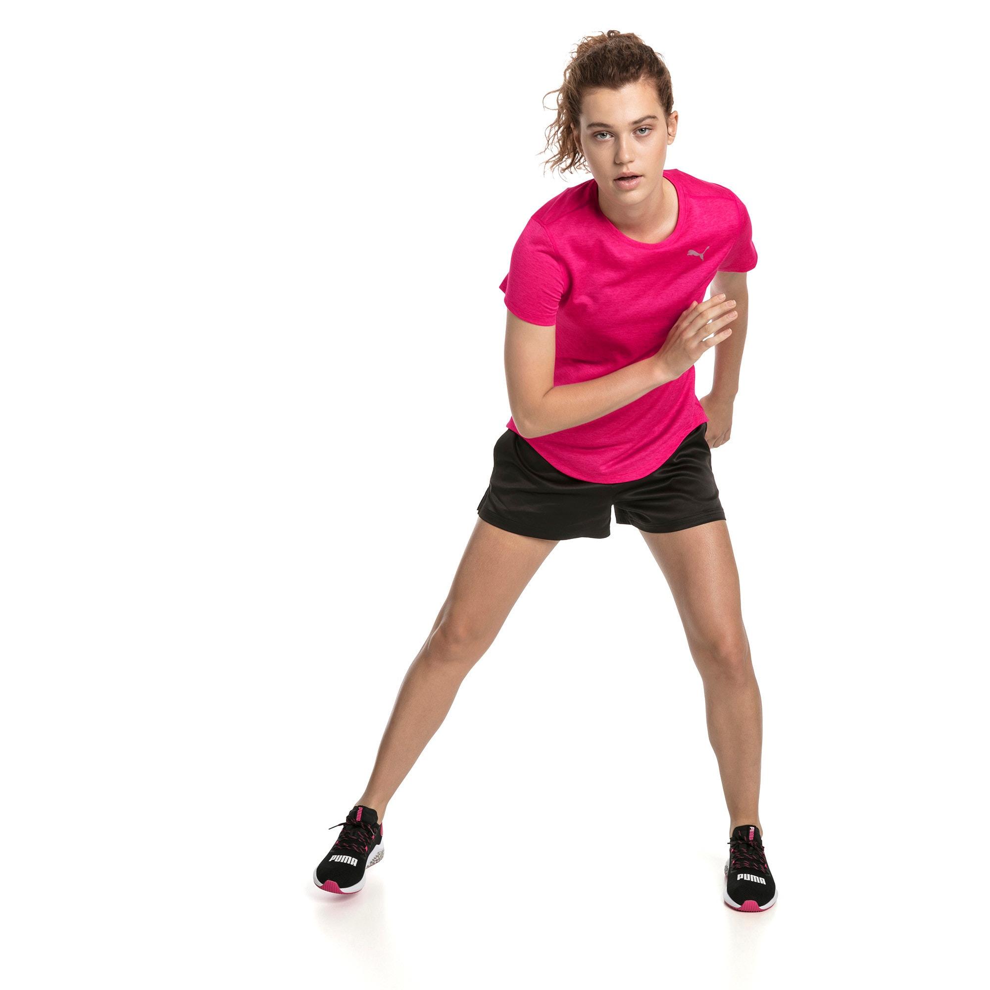 Thumbnail 3 of Epic Heather Short Sleeve Women's Running Tee, Fuchsia Purple Heather, medium