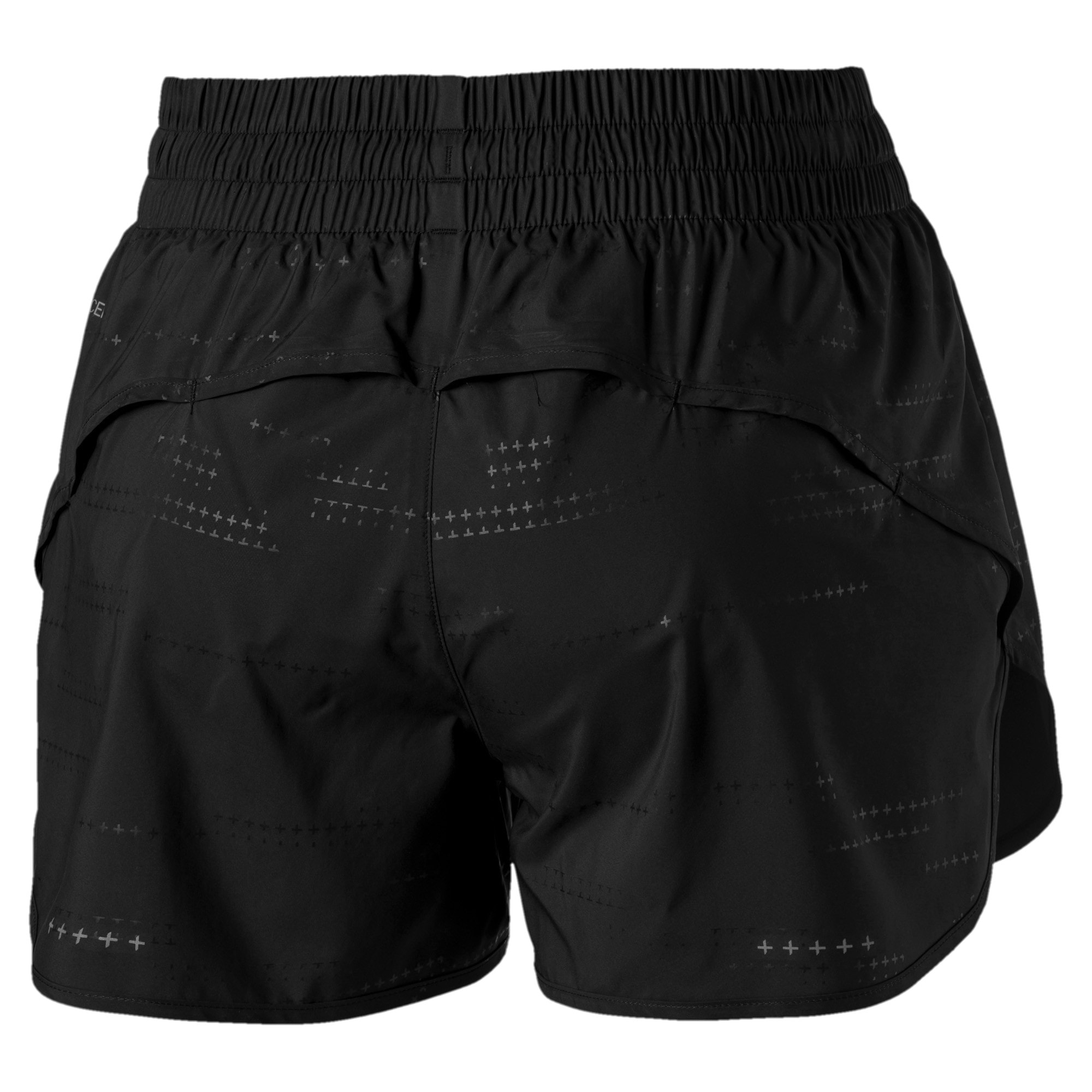 Thumbnail 6 of Keep Up Graphic Damen Running Shorts, puma black-Q1 Print, medium