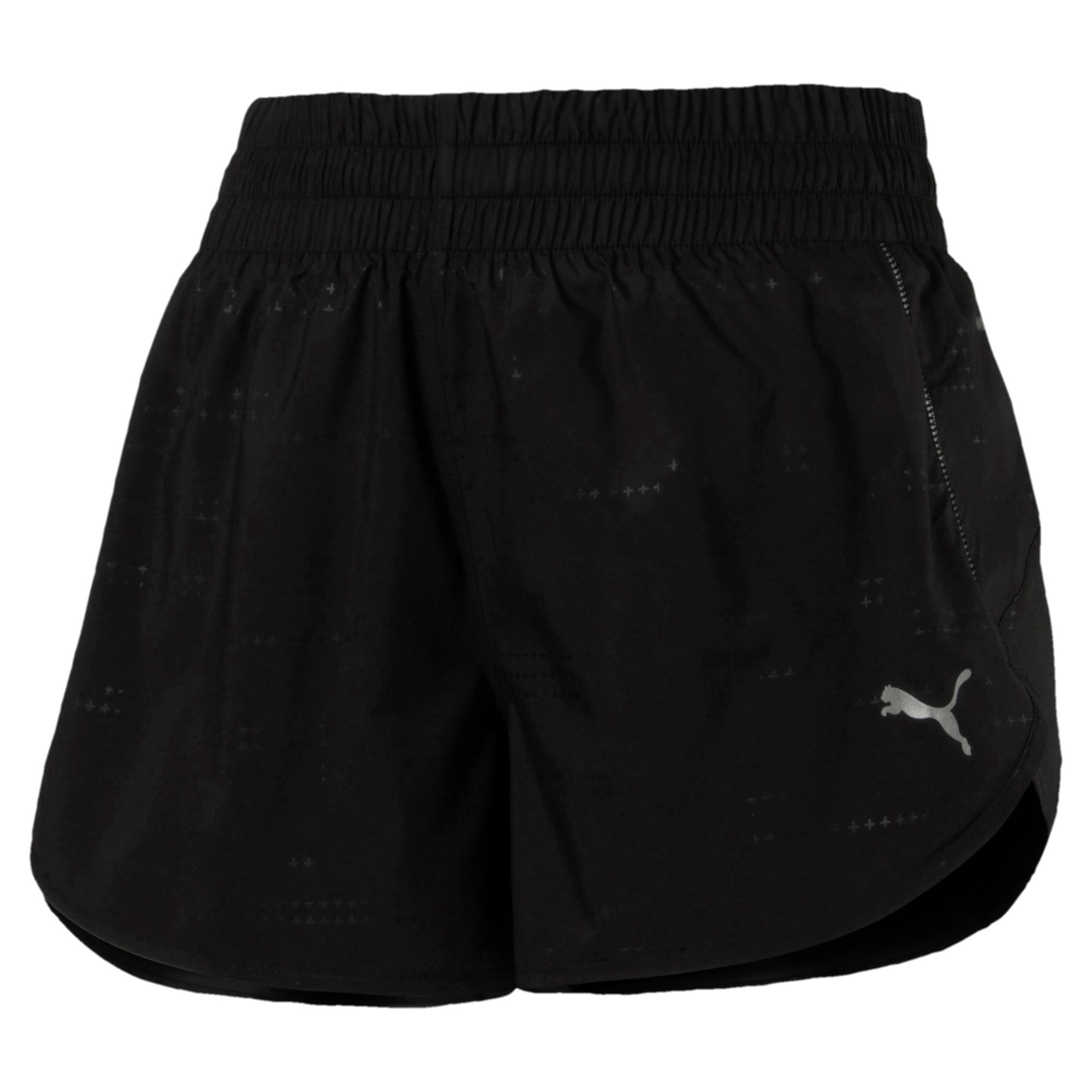 Thumbnail 5 of Keep Up Graphic Damen Running Shorts, puma black-Q1 Print, medium