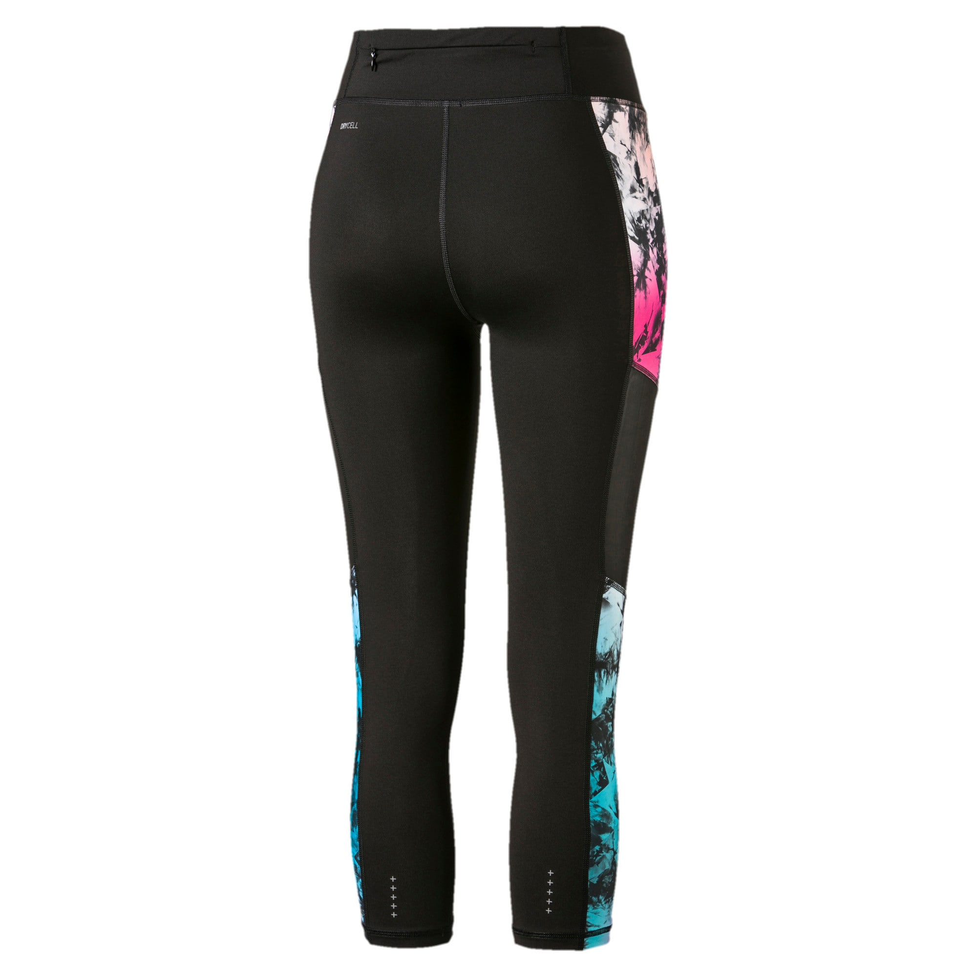 Ignite 3/4 Graphic Women's Tights, Puma Black-Multi-Q2 Print, large