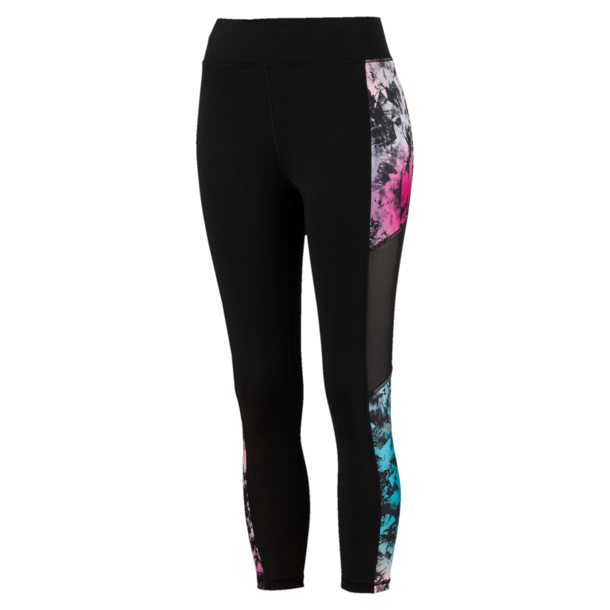 Thumbnail 4 of Ignite 3/4 Graphic Women's Tights, Puma Black-Multi-Q2 Print, medium