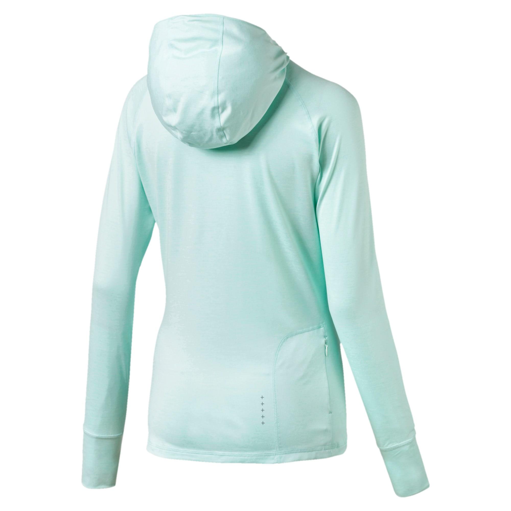 Thumbnail 5 of IGNITE Damen Running Kapuzen-Langarm-Shirt, Fair Aqua Heather, medium