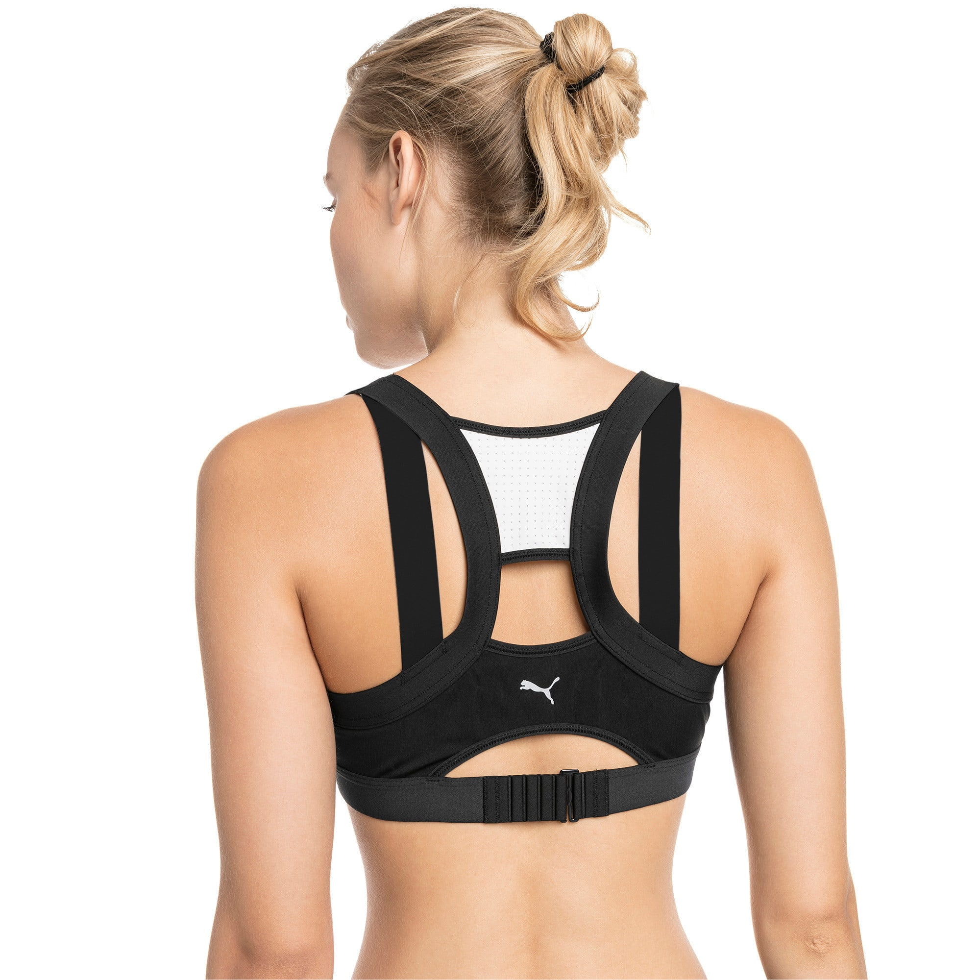 Thumbnail 2 of Density Women's High Impact Bra, Puma Black-Puma White, medium