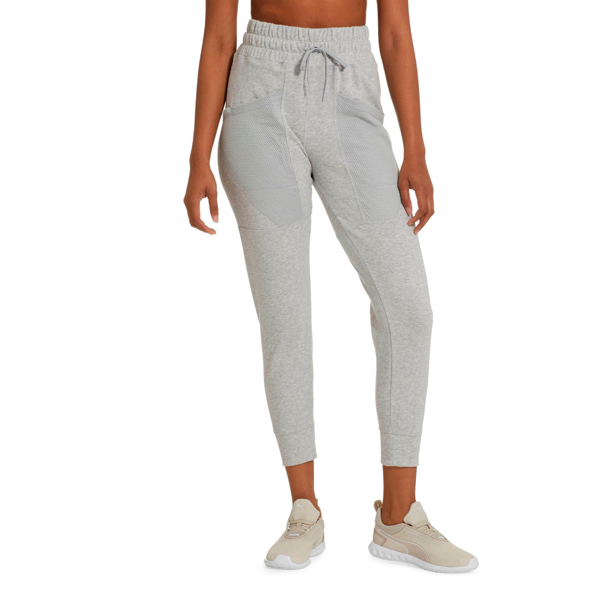 Thumbnail 1 of Yogini Women's 7/8 Pants, Light Gray Heather, medium