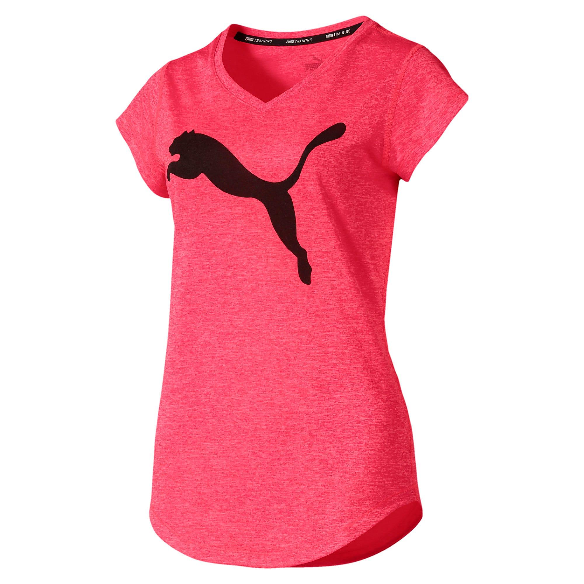 Thumbnail 4 of ヘザー キャット ウィメンズ ランニング Tシャツ 半袖, Pink Alert, medium-JPN