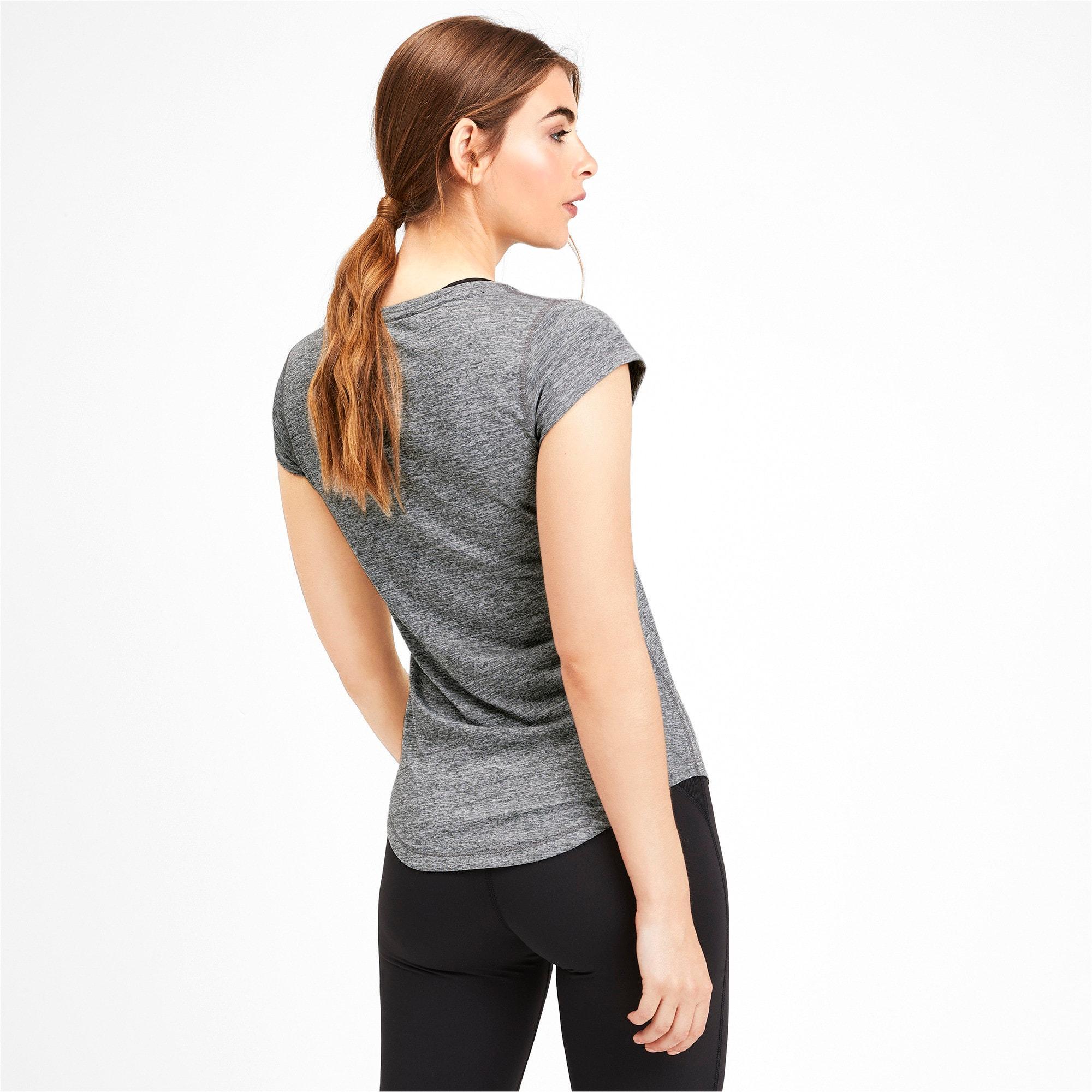 Thumbnail 2 of ヘザー キャット ウィメンズ ランニング Tシャツ 半袖, Medium Gray Heather, medium-JPN
