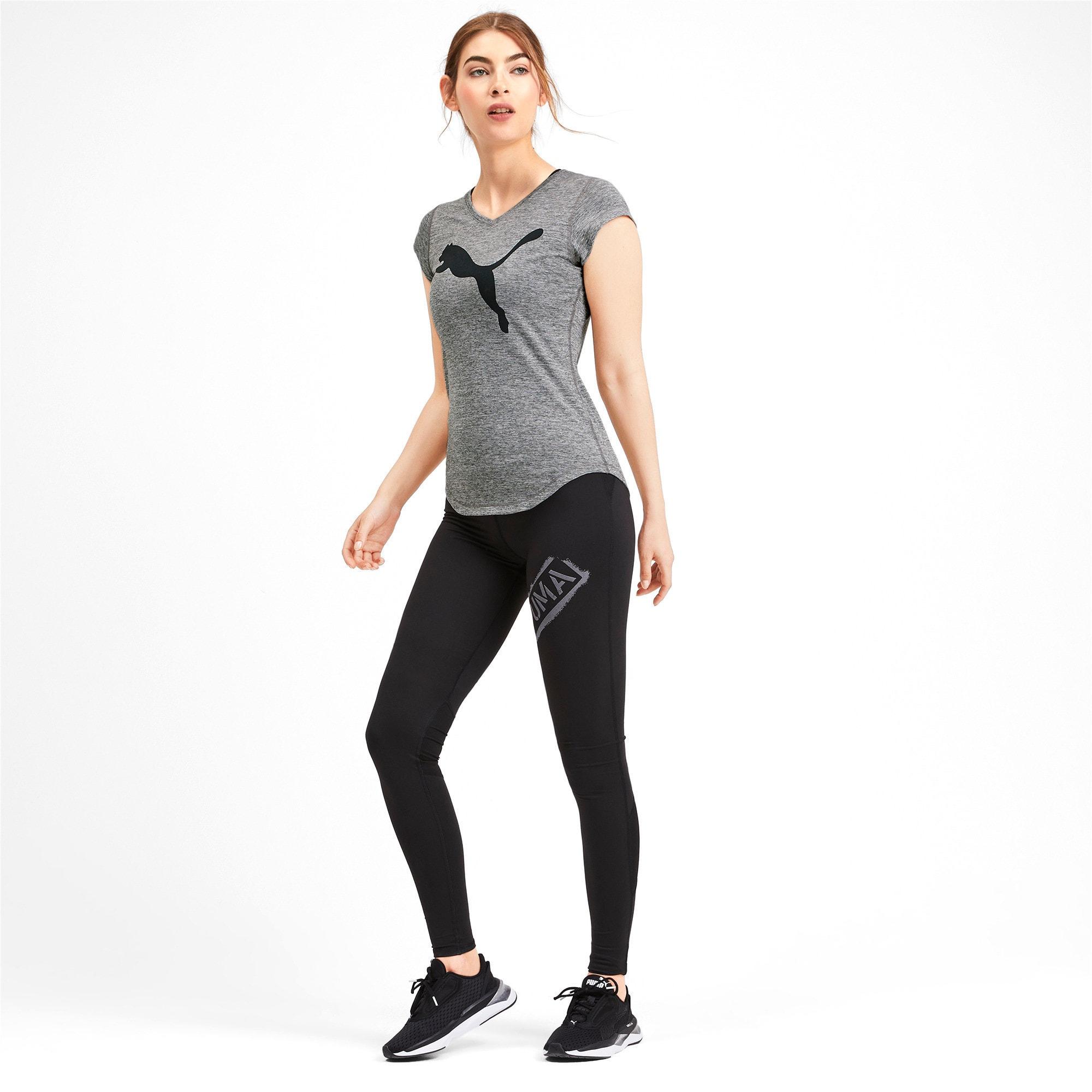 Thumbnail 3 of ヘザー キャット ウィメンズ ランニング Tシャツ 半袖, Medium Gray Heather, medium-JPN