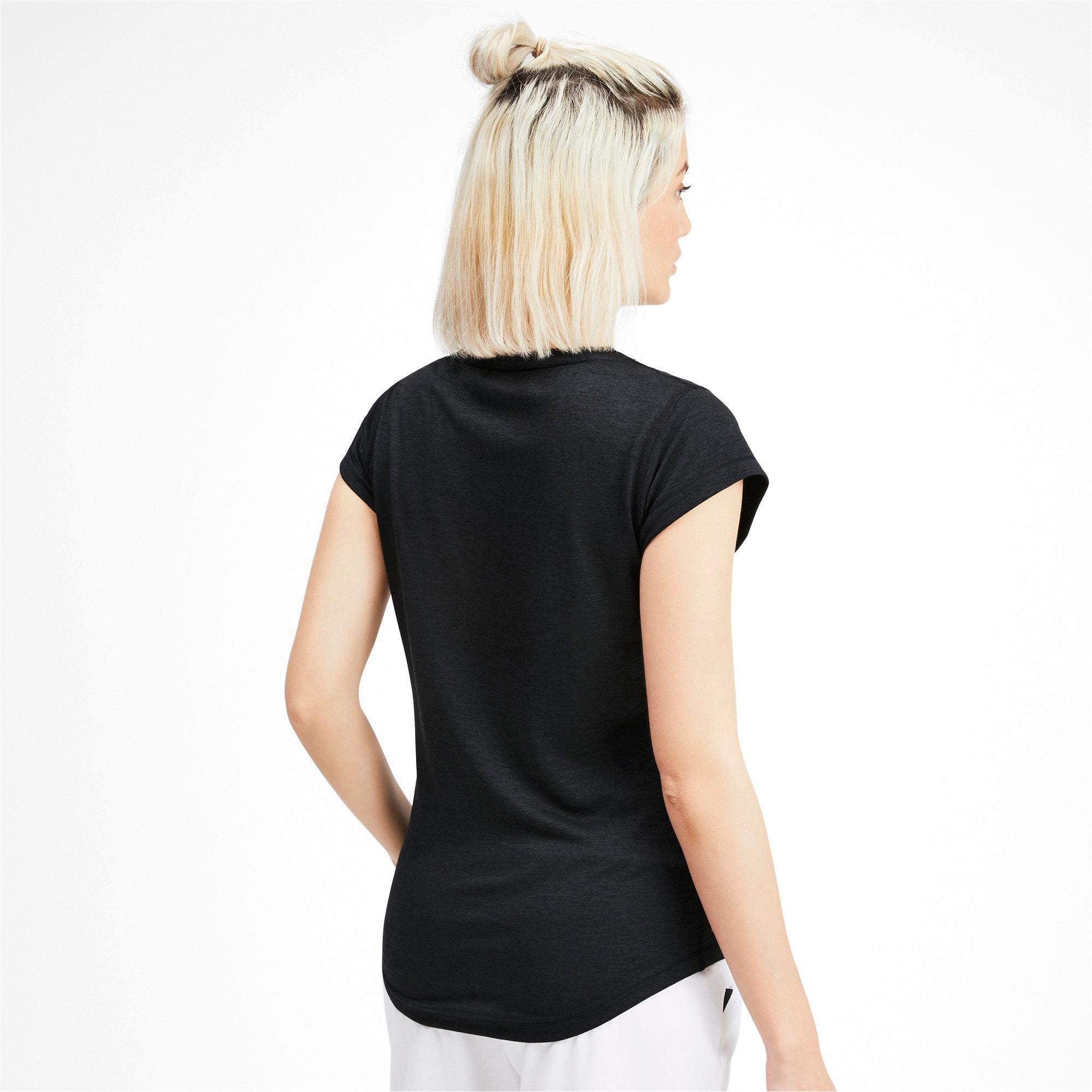 Thumbnail 2 of ヘザー キャット ウィメンズ ランニング Tシャツ 半袖, Puma Black, medium-JPN