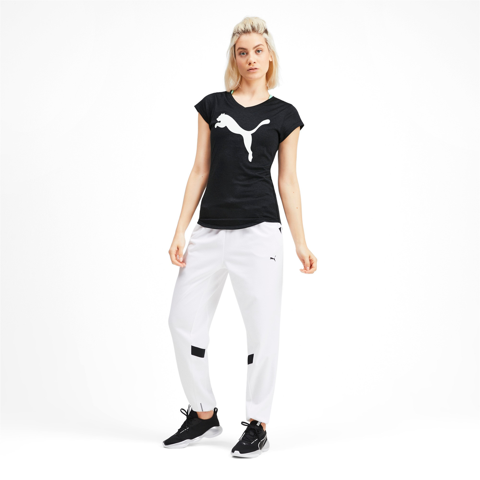 Thumbnail 3 of ヘザー キャット ウィメンズ ランニング Tシャツ 半袖, Puma Black, medium-JPN