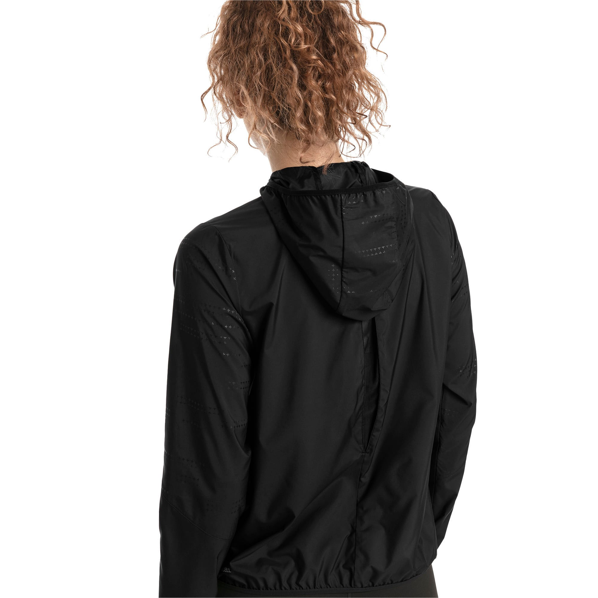 Thumbnail 2 of Ignite Women's Hooded Wind Jacket, Puma Black, medium