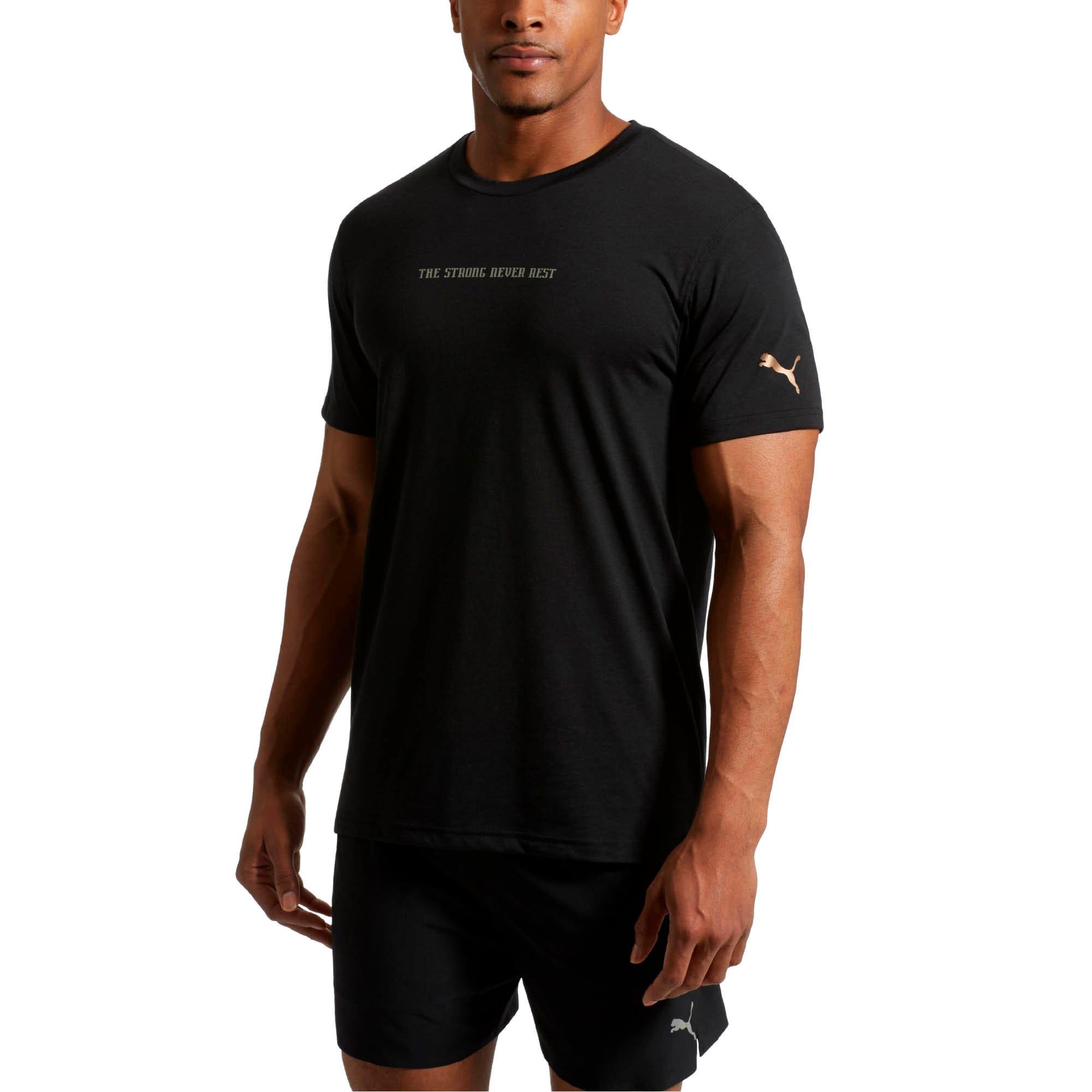 Thumbnail 2 of Energy Desert SNR Short Sleeve Men's Training Top, Puma Black, medium
