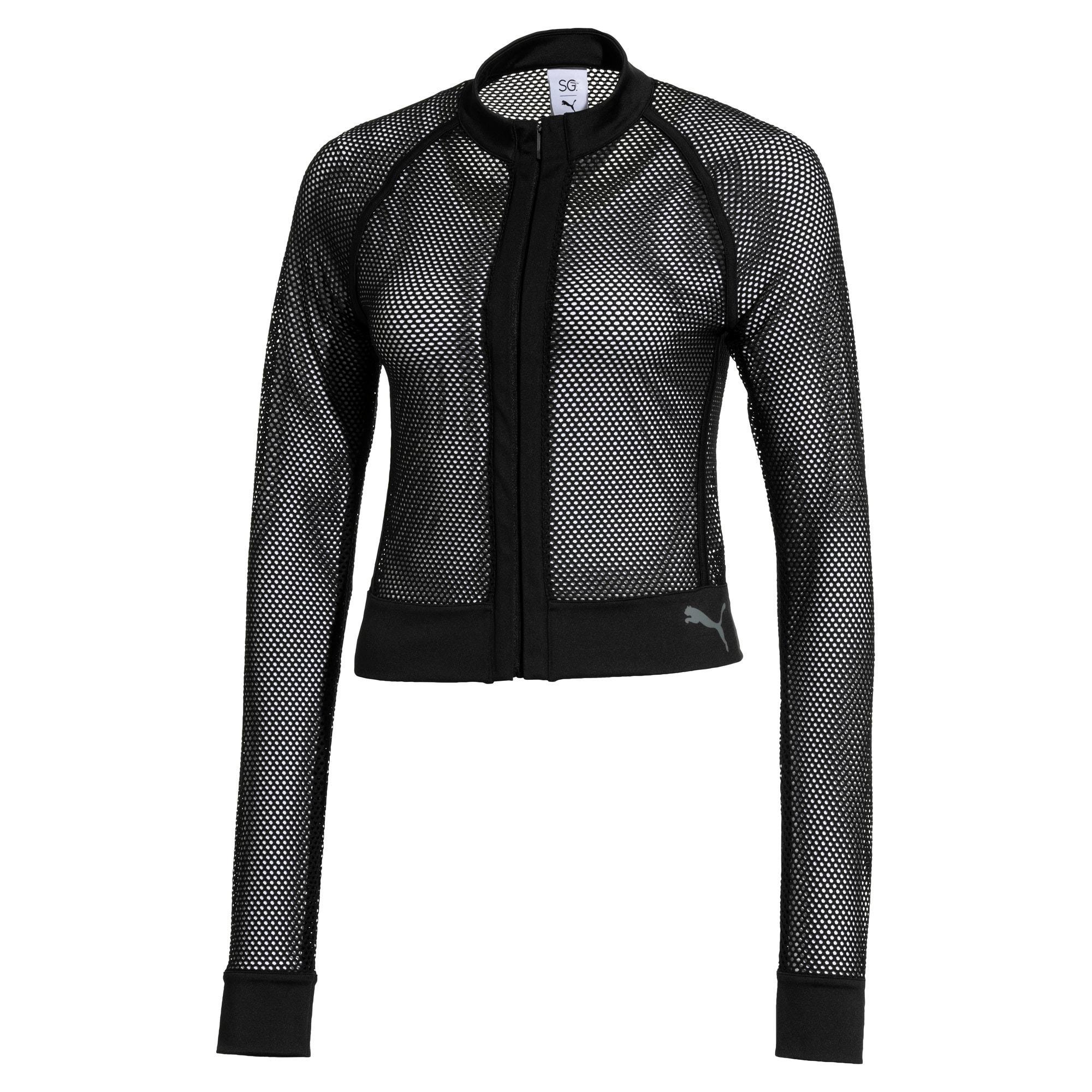 Thumbnail 1 of SG x PUMA Mesh Jacket, Puma Black, medium